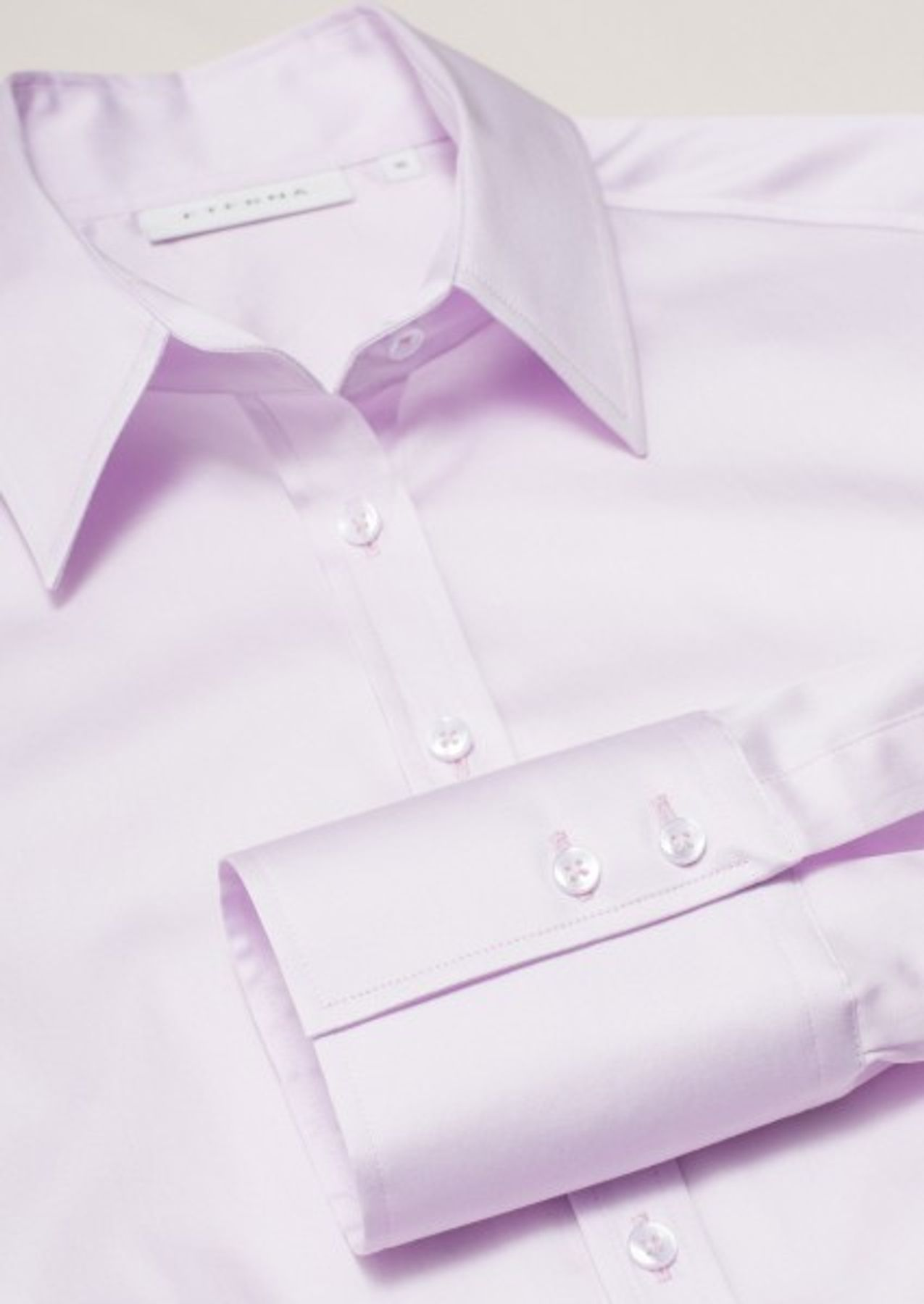 Eterna -  Comfort-Fit - Bügelfreie Damen Bluse Langarm in Weiß, Blau oder Rosé (5352 D624) – Bild 9