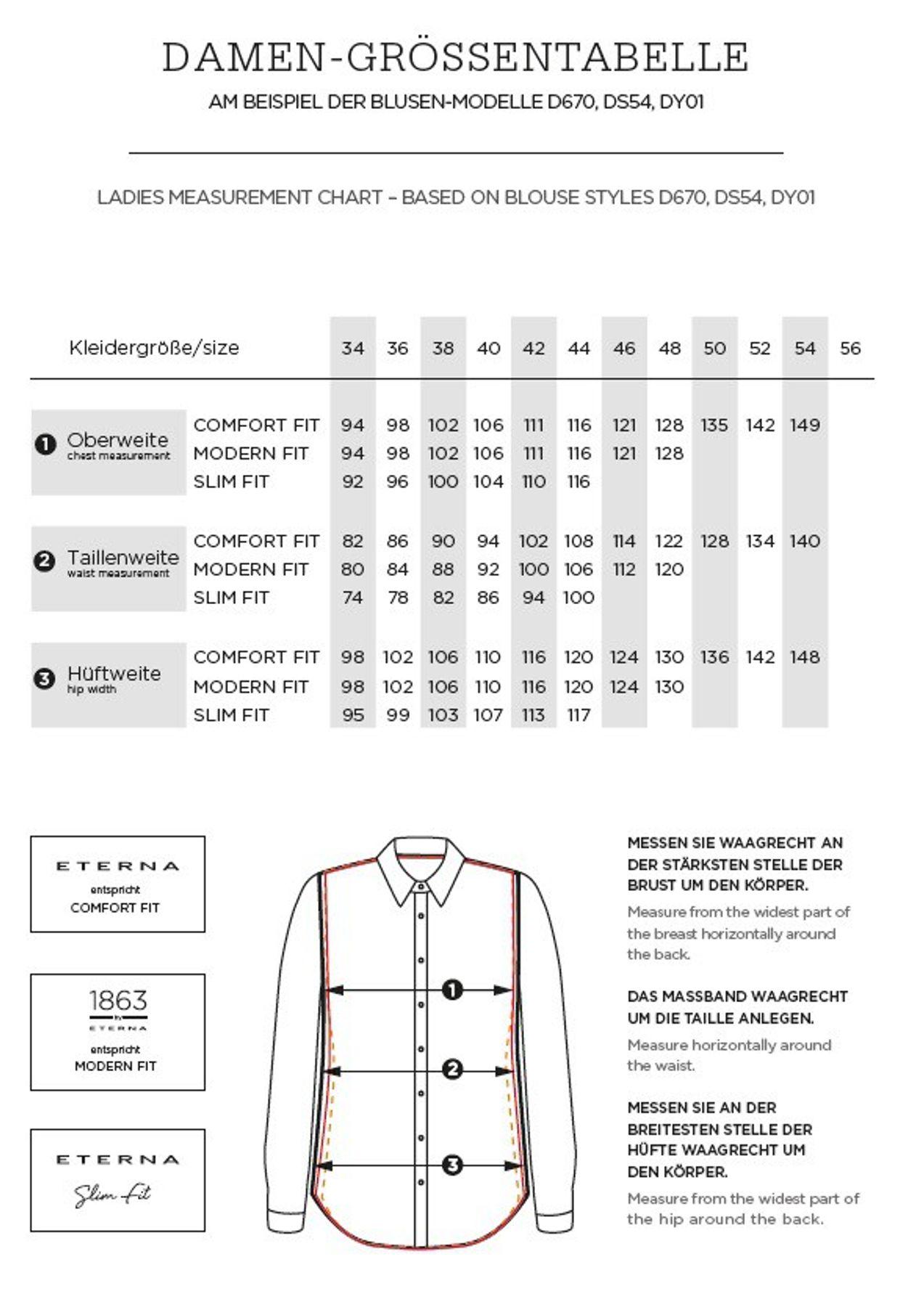 Eterna -  Comfort-Fit - Bügelfreie Damen Bluse ohne Arm in Weiß oder Schwarz (5220 A670) – Bild 13