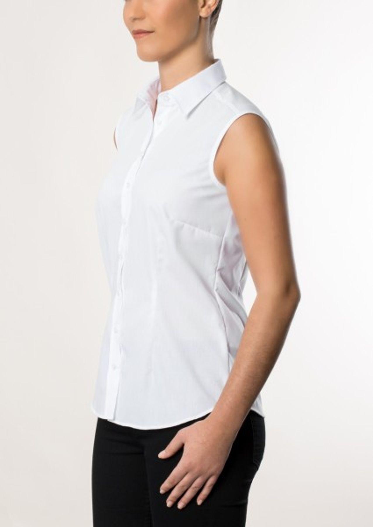 Eterna -  Comfort-Fit - Bügelfreie Damen Bluse ohne Arm in Weiß oder Schwarz (5220 A670) – Bild 11