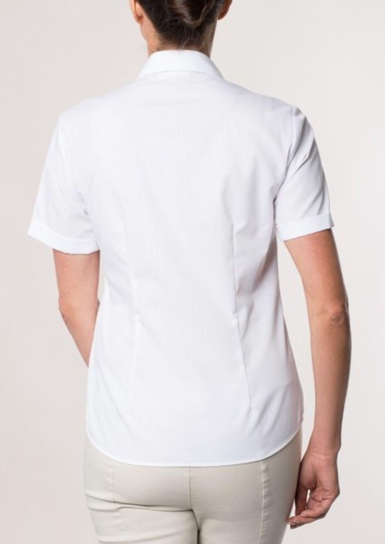 Eterna -  Comfort-Fit - Bügelfreie Damen Halbarm - Bluse in Blau, Weiß oder Schwarz (5220 H670) – Bild 5