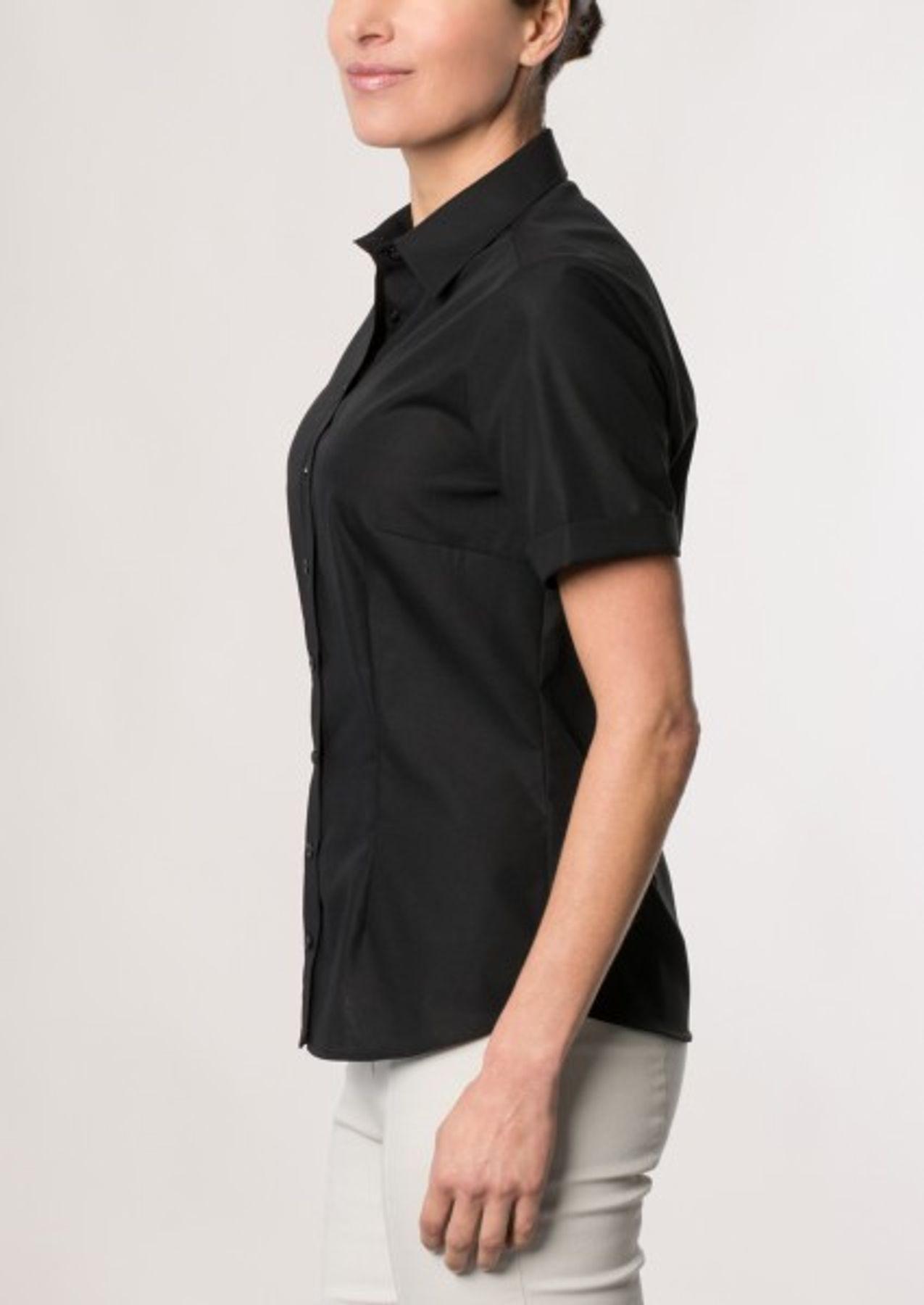 Eterna -  Comfort-Fit - Bügelfreie Damen Halbarm - Bluse in Blau, Weiß oder Schwarz (5220 H670) – Bild 11