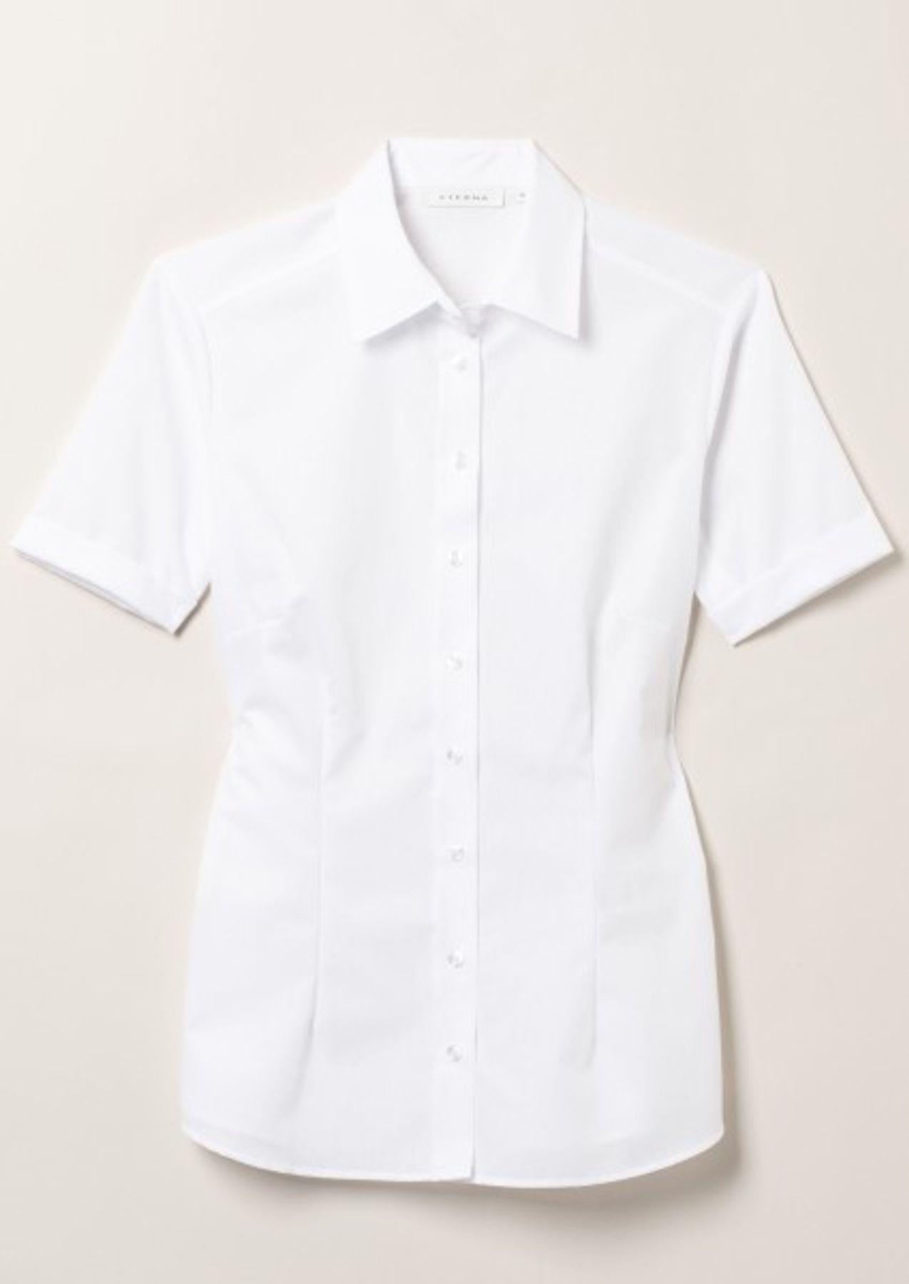 Eterna -  Comfort-Fit - Bügelfreie Damen Halbarm - Bluse in Blau, Weiß oder Schwarz (5220 H670) – Bild 4