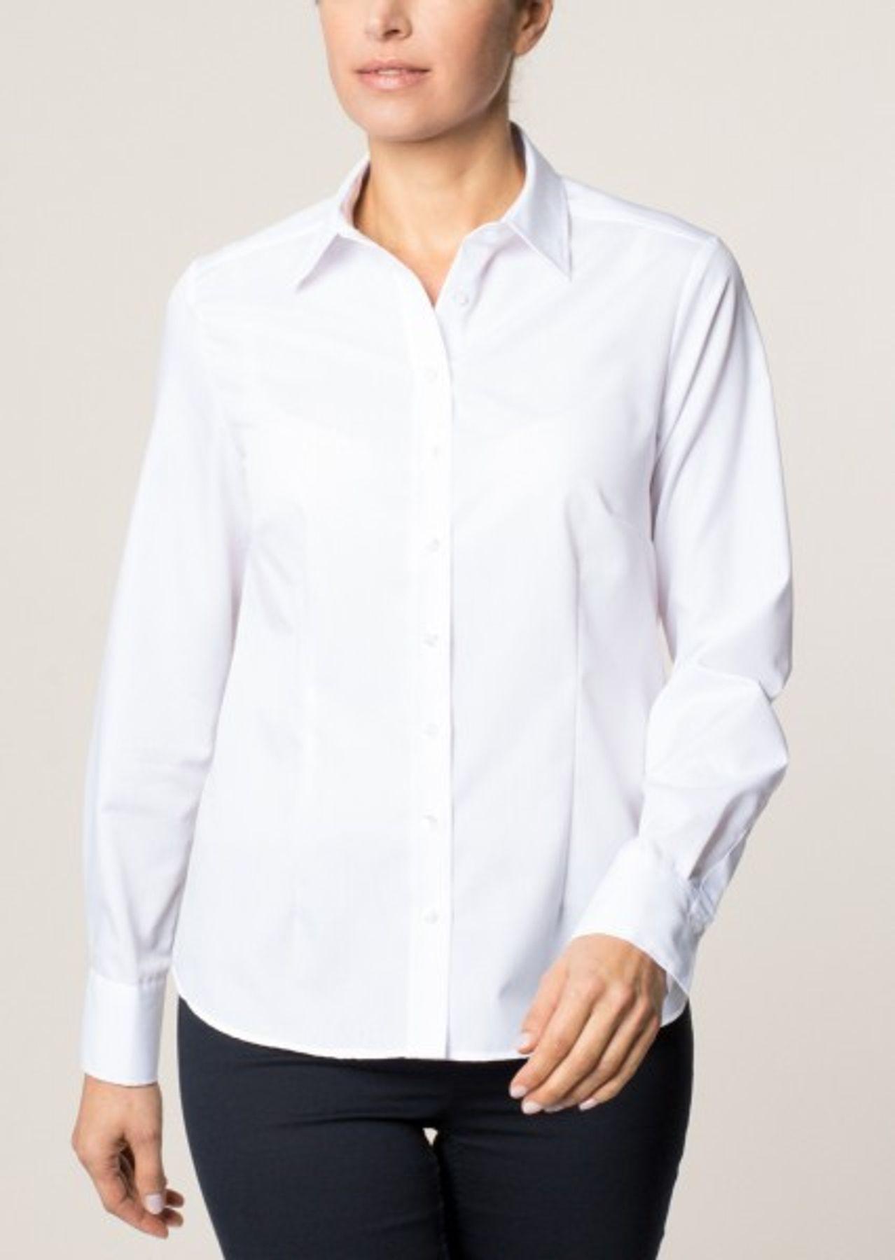 Eterna -  Comfort-Fit - Bügelfreie Damen Langarm - Bluse in Weiß, Blau, Rosè oder Schwarz (5220 D670) – Bild 15