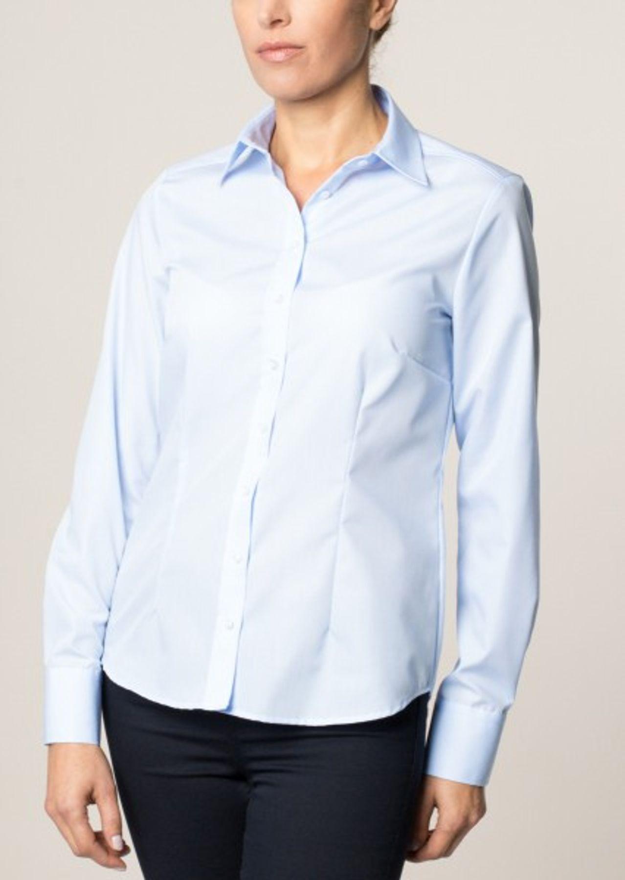 Eterna -  Comfort-Fit - Bügelfreie Damen Langarm - Bluse in Weiß, Blau, Rosè oder Schwarz (5220 D670) – Bild 7