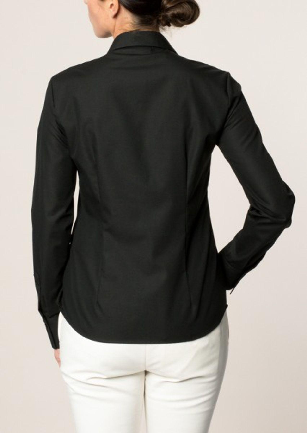 Eterna -  Comfort-Fit - Bügelfreie Damen Langarm - Bluse in Weiß, Blau, Rosè oder Schwarz (5220 D670) – Bild 10