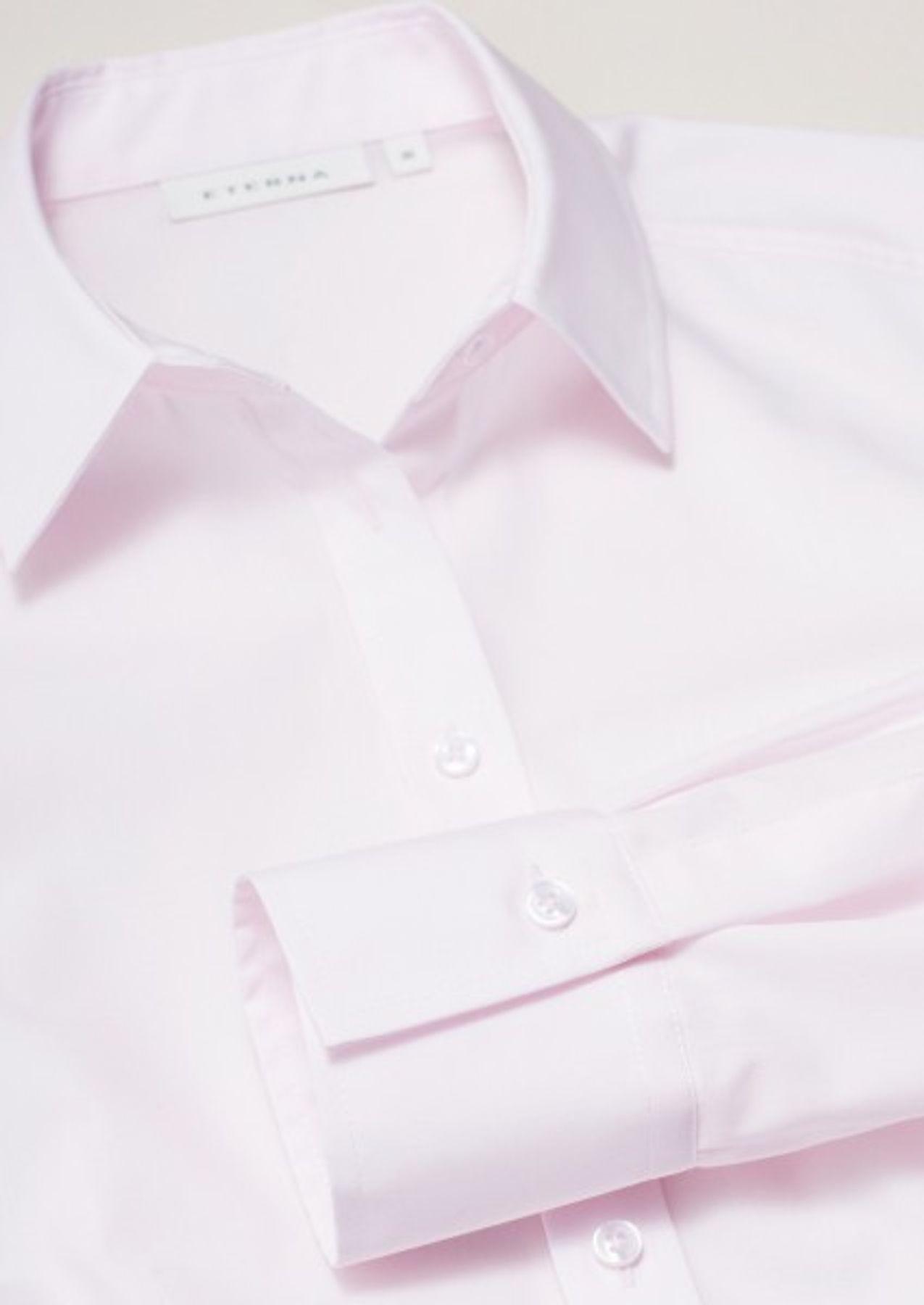 Eterna -  Comfort-Fit - Bügelfreie Damen Langarm - Bluse in Weiß, Blau, Rosè oder Schwarz (5220 D670) – Bild 6