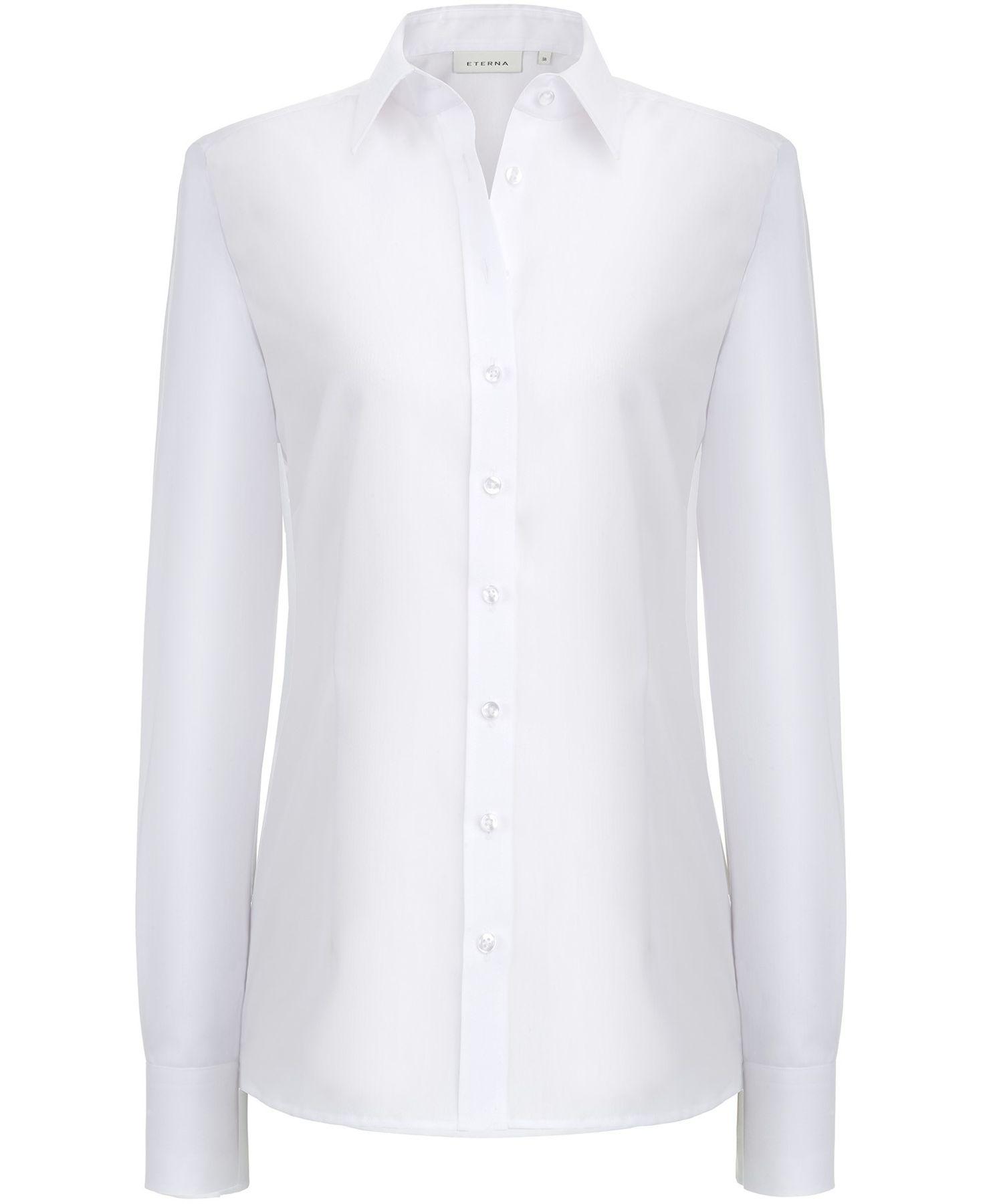 Eterna -  Comfort-Fit - Bügelfreie Damen Langarm - Bluse in Weiß, Blau, Rosè oder Schwarz (5220 D670) – Bild 1