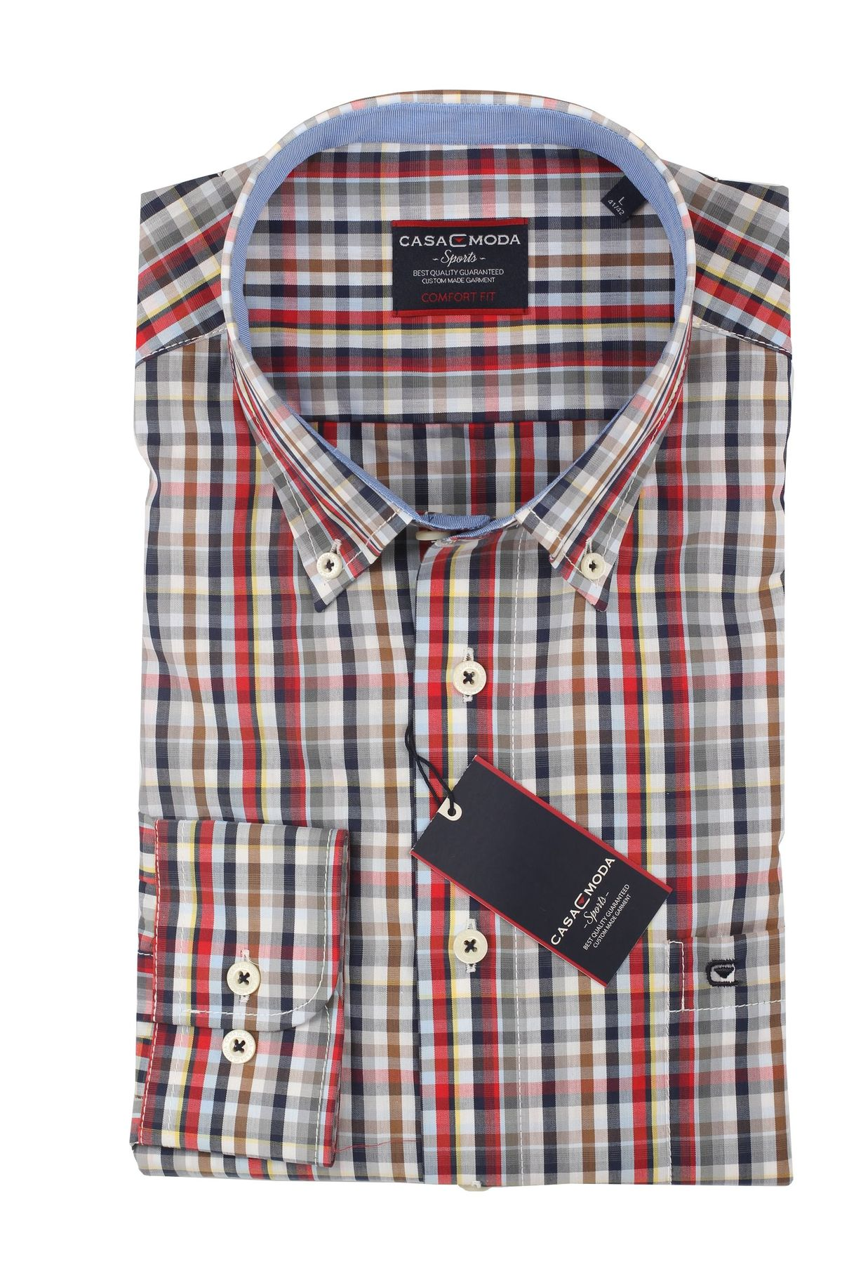 Casa Moda - Comfort Fit - Herren Hemd mit Karo Muster und Button Down Kragen (462722800 A) – Bild 11
