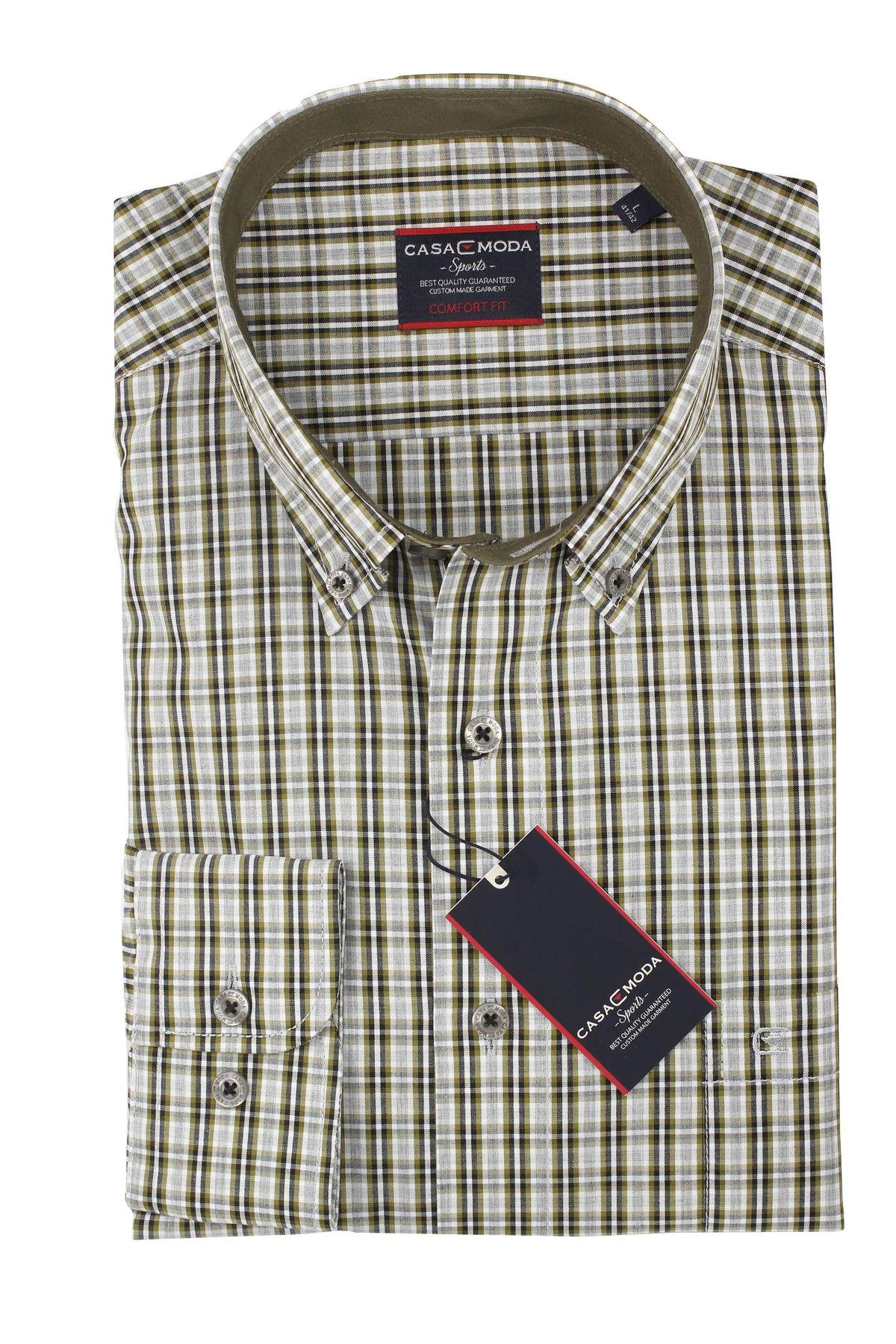 Casa Moda - Comfort Fit - Herren Hemd mit Karo Muster und Button Down Kragen (462722800 A) – Bild 9