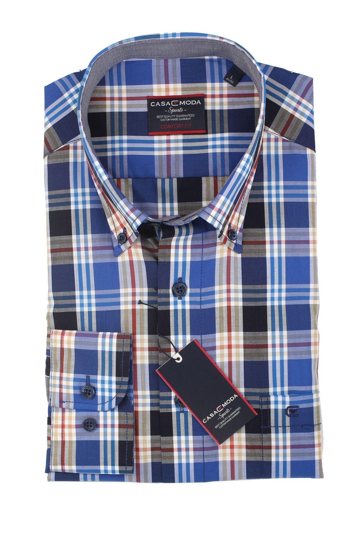 Casa Moda - Comfort Fit - Herren Hemd mit Karo Muster und Button Down Kragen (462722800 A) – Bild 5
