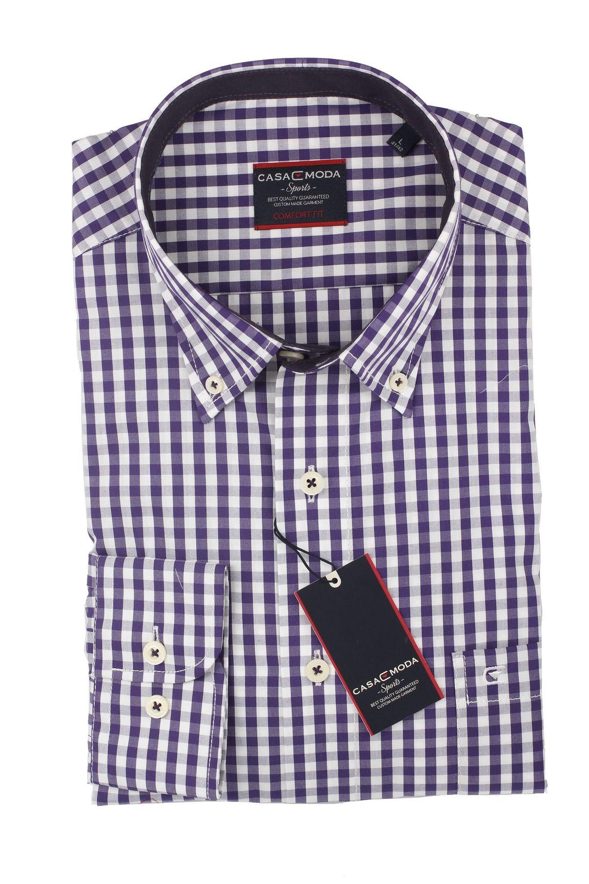 Casa Moda - Comfort Fit - Herren Hemd mit Karo Muster und Button Down Kragen (462722800 A) – Bild 1