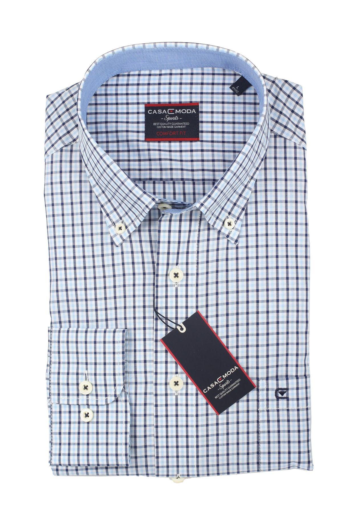 Casa Moda - Comfort Fit - Herren Hemd mit Karo Muster und Button Down Kragen (462722800 A) – Bild 6