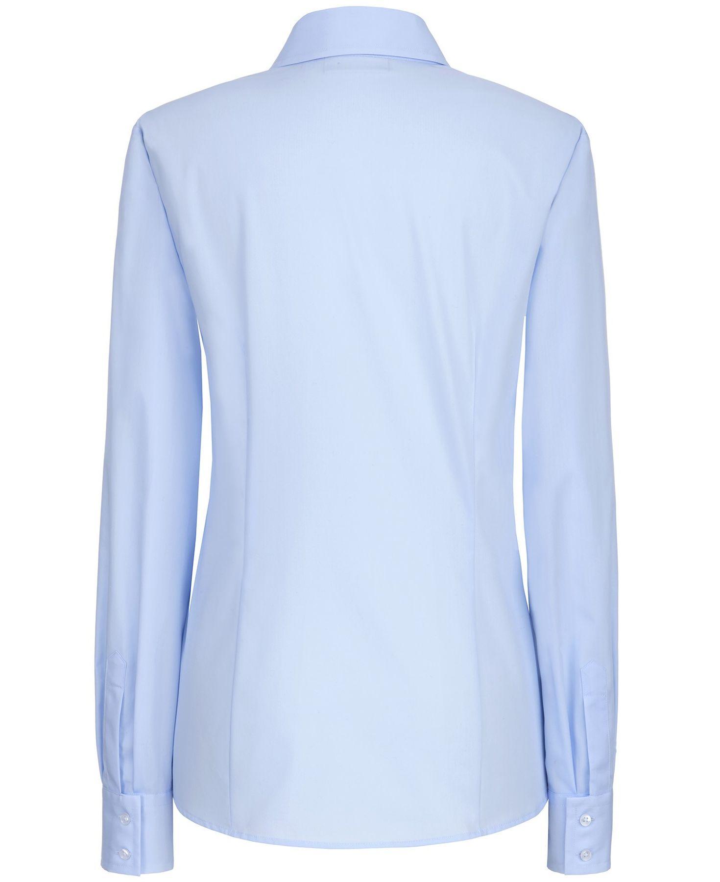 Eterna -  Comfort-Fit - Damen Langarm Bluse in Hellblau kariert  (5330 D661) – Bild 7