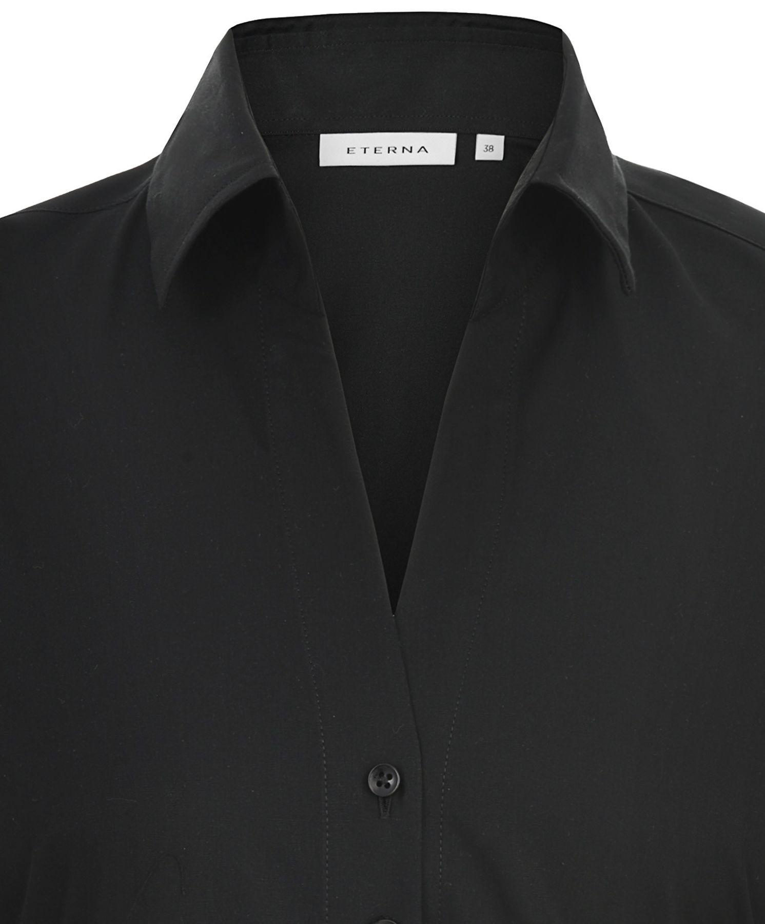 Eterna -  Comfort-Fit - Damen Langarm Bluse in Hellblau kariert  (5330 D661) – Bild 10