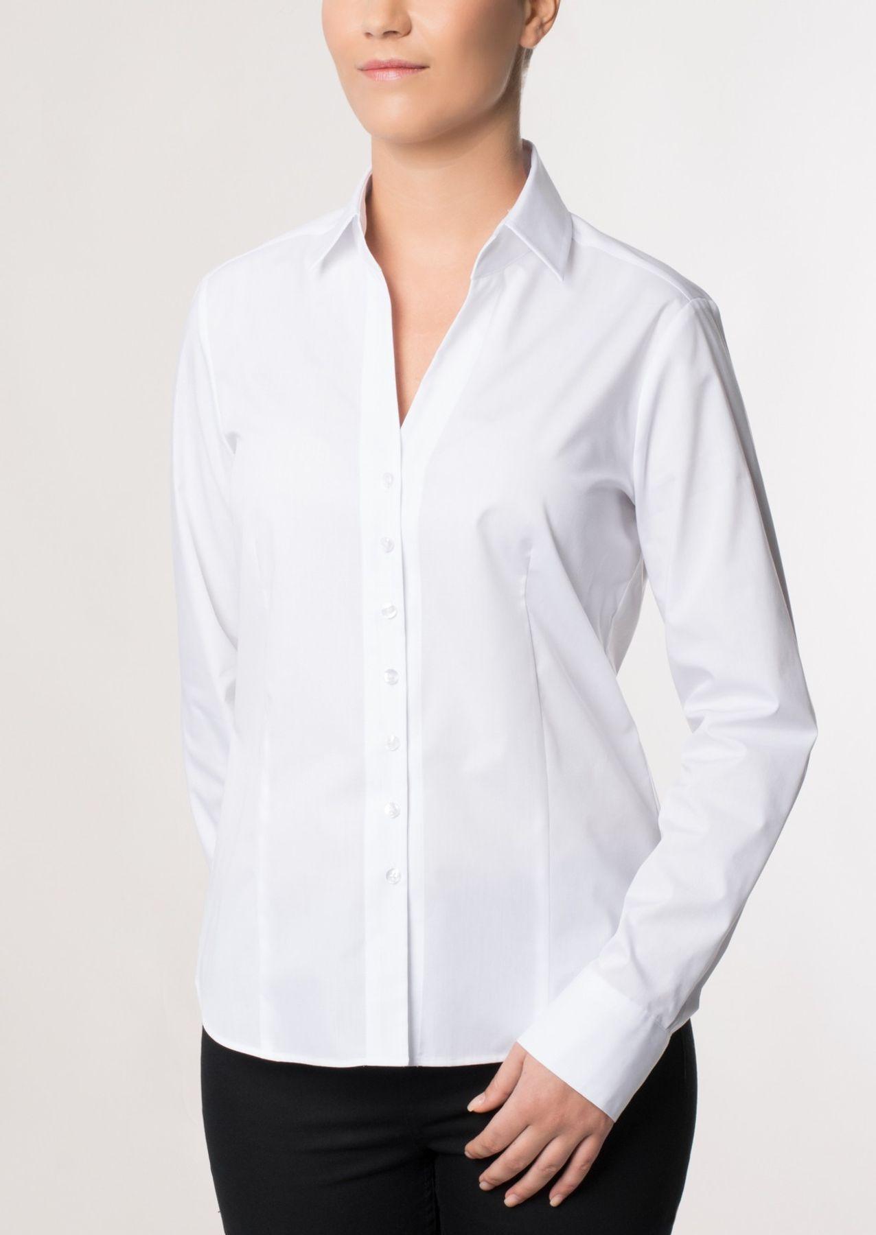 Eterna -  Comfort-Fit - Damen Langarm Bluse in Hellblau kariert  (5330 D661) – Bild 2