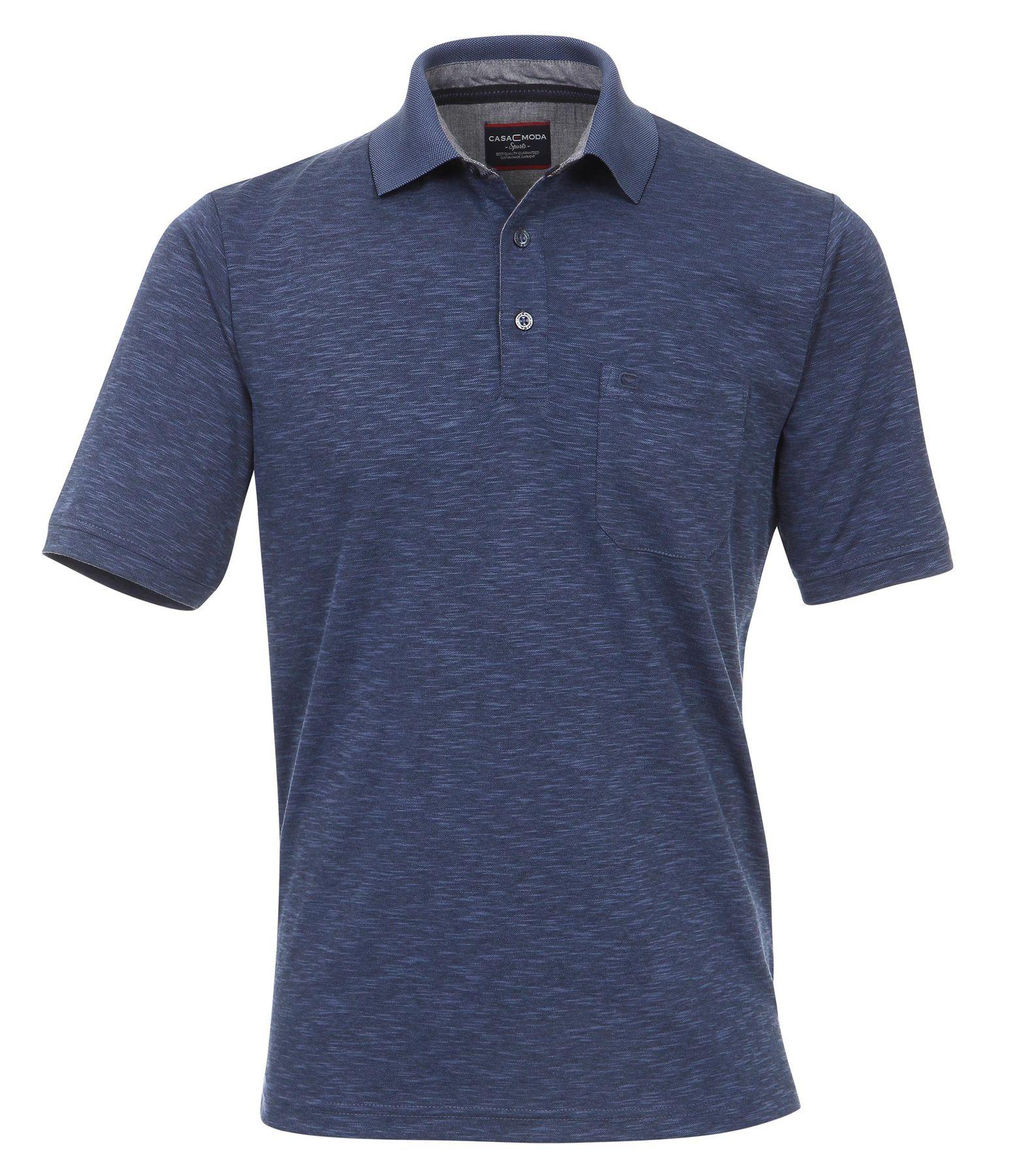 Casa Moda - Herren Polo Shirt in Melange Optik und Brusttasche in verschiedenen Farben (972630300) – Bild 1