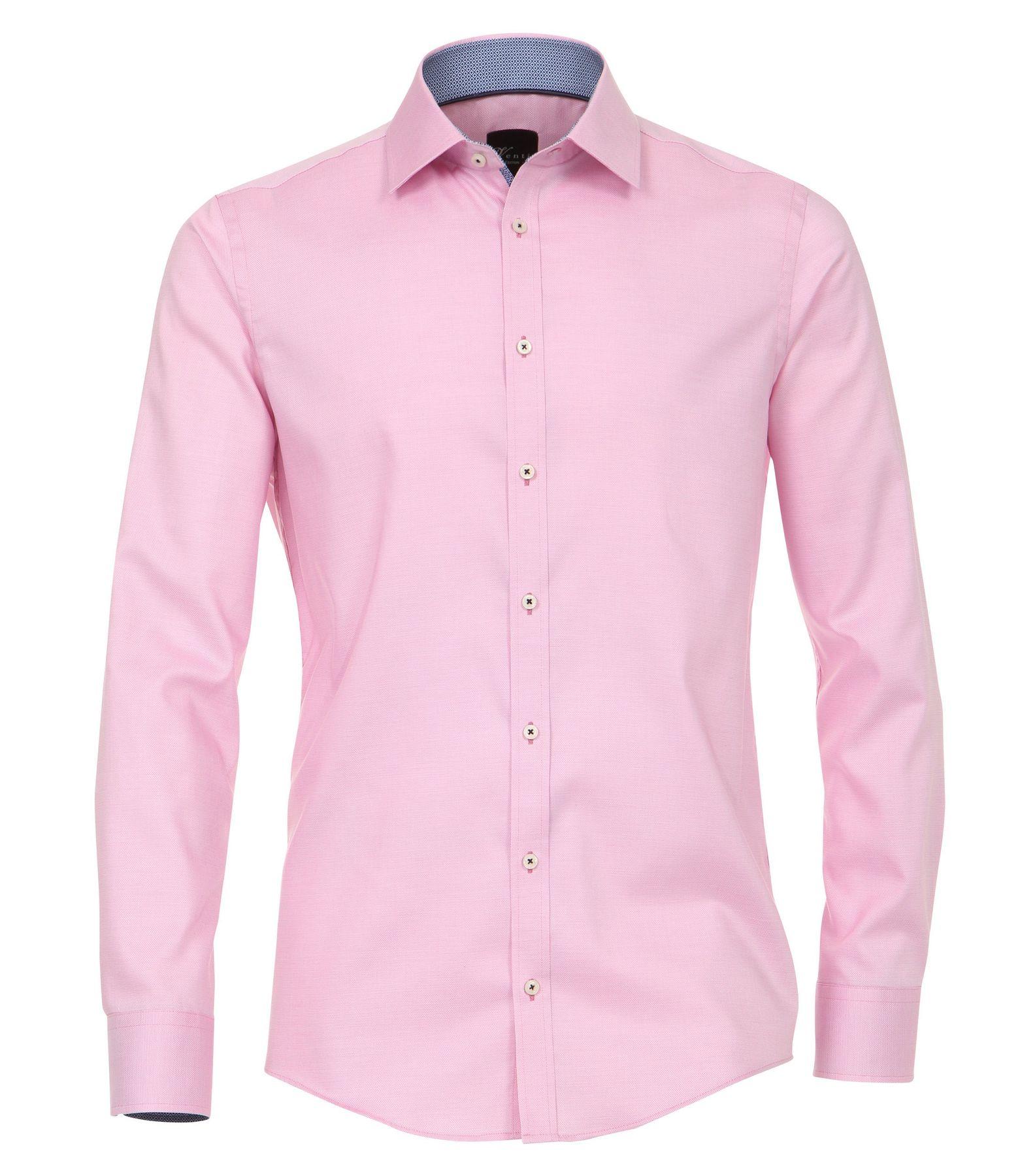 Venti - Slim Fit - Herren Langarm Hemd aus 100% Baumwolle mit Kent Kragen in verschiedenen Farben (172678600) – Bild 11