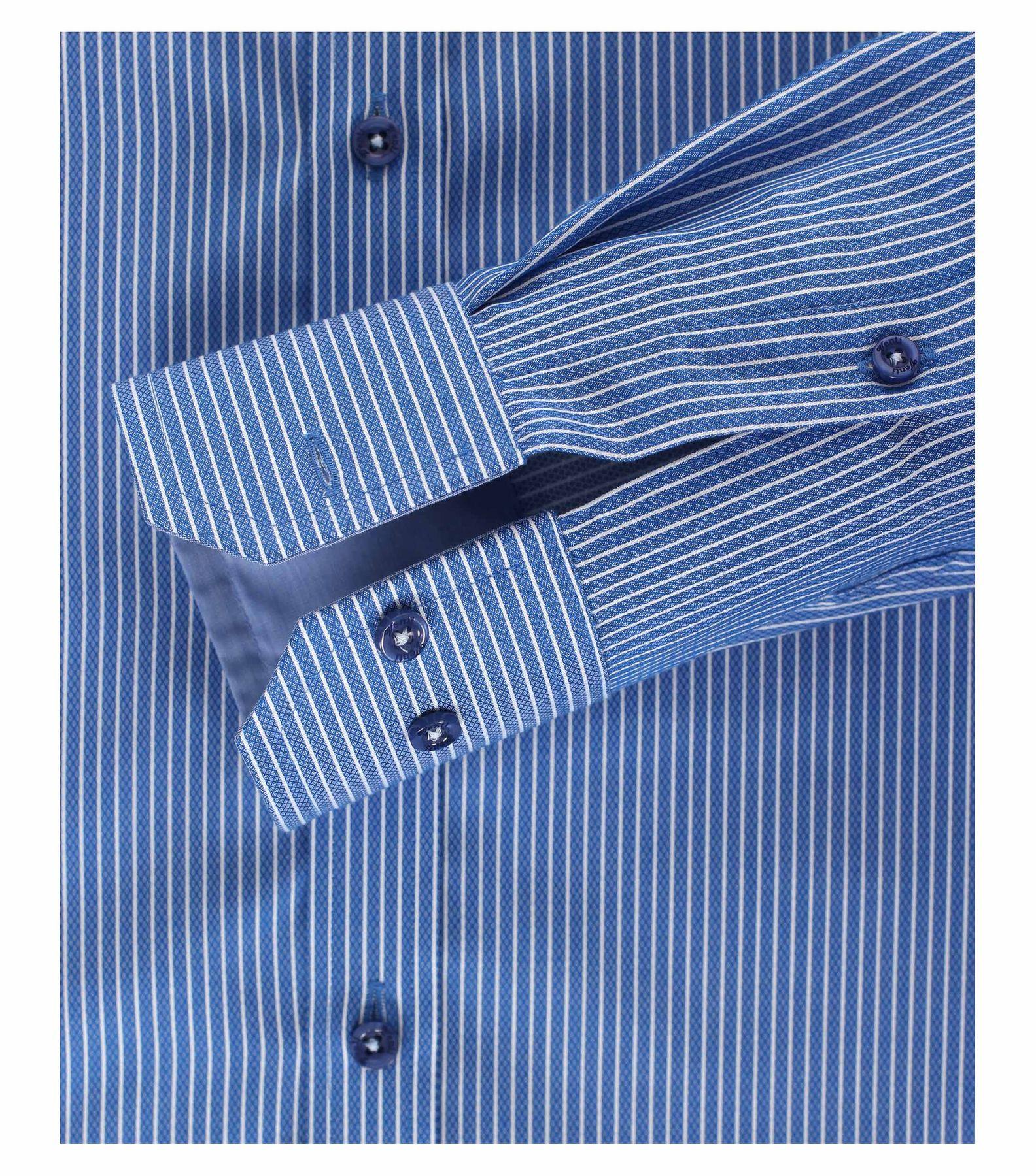 Venti - Slim Fit - Herren Langarm Hemd gestreift mit Kent Kragen (172678700) – Bild 8