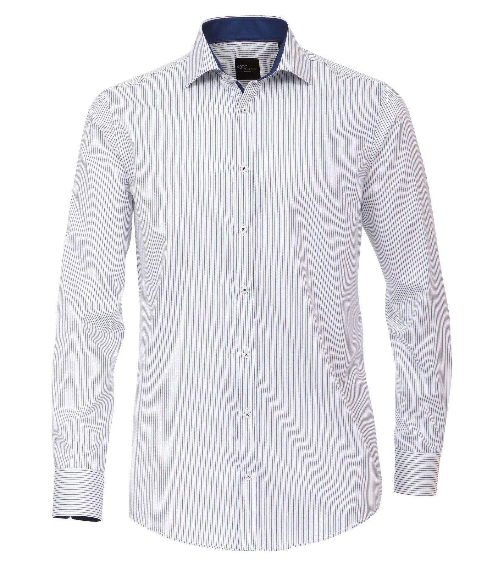 Venti - Slim Fit - Herren Langarm Hemd gestreift mit Kent Kragen (172678700) – Bild 1