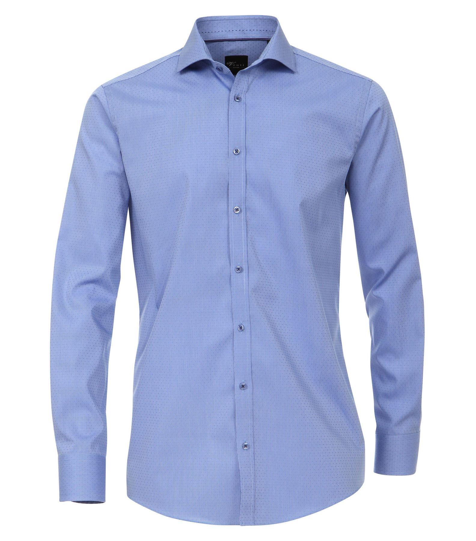 Venti - Slim Fit - Herren Langarm Hemd gestreift aus 100% Baumwolle mit Hai Kragen (172678900) – Bild 1