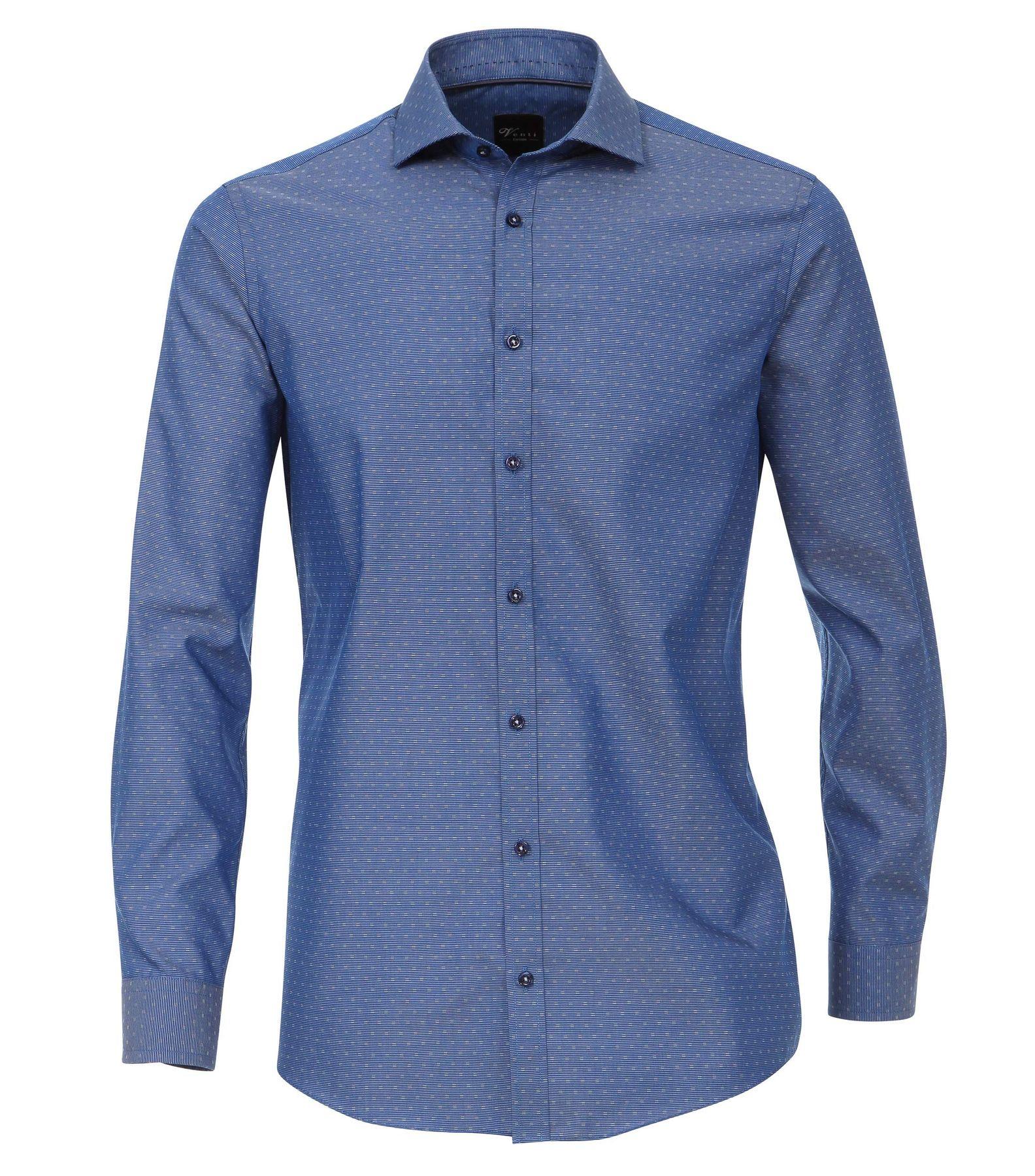 Venti - Slim Fit - Herren Langarm Hemd gestreift aus 100% Baumwolle mit Hai Kragen (172678900) – Bild 7