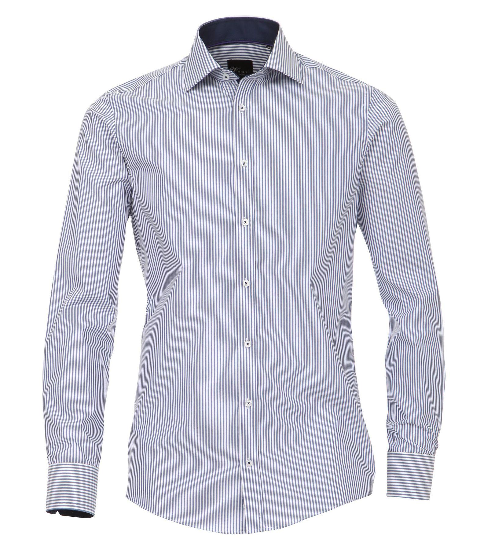 Venti - Slim Fit - Herren Popeline Hemd gestreift mit Kent Kragen (172726700) – Bild 6