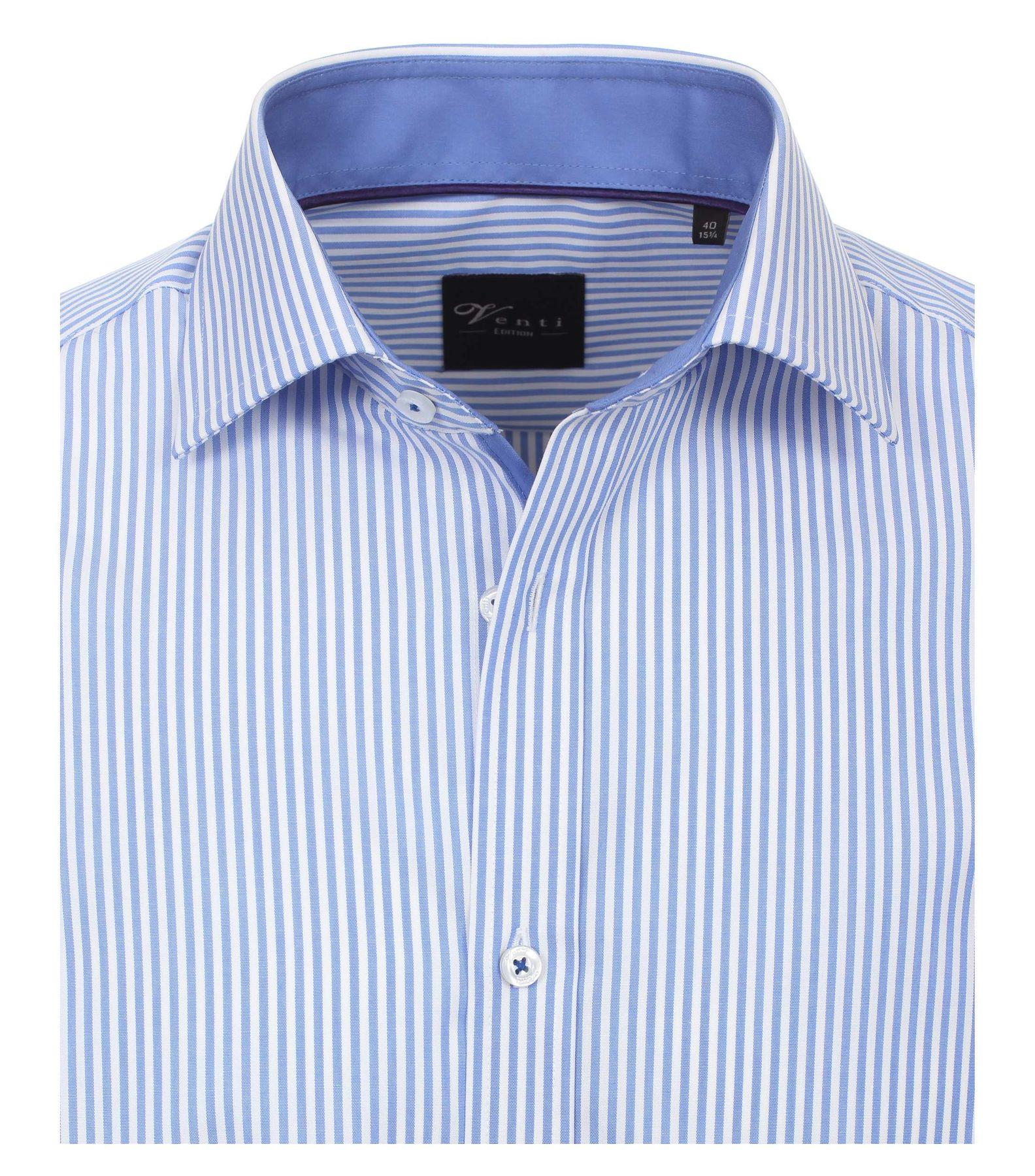 Venti - Slim Fit - Herren Popeline Hemd gestreift mit Kent Kragen (172726700) – Bild 3