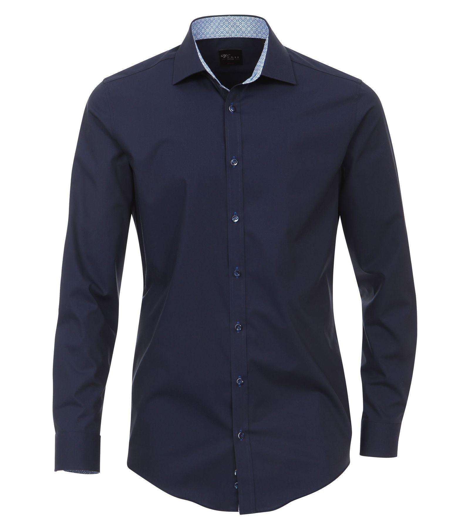 Venti - Body Fit - Herren Popeline Hemd aus 100% Baumwolle mit Kent Kragen (172677800) – Bild 9