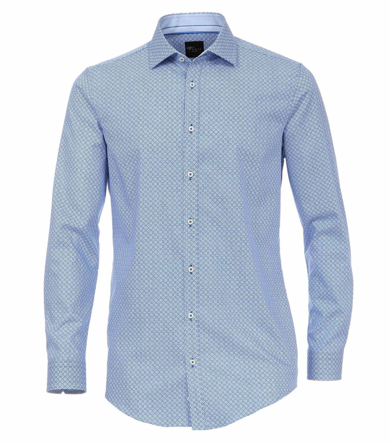 Venti - Body Fit - Herren Hemd mit modischem Druck und aus 100% Baumwolle mit Kent Kragen (172678100) – Bild 1