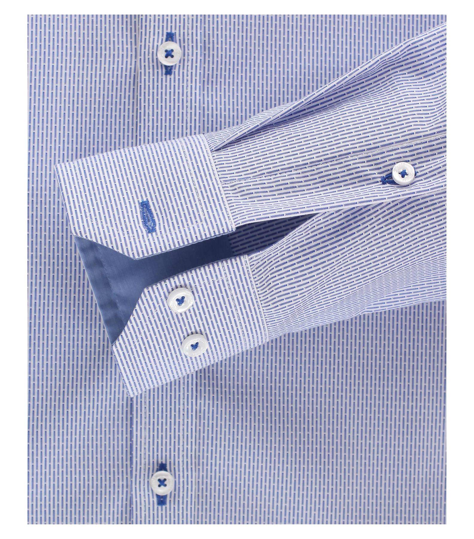 Venti - Body Fit - Herren Hemd aus 100% Baumwolle mit Hai Kragen in Blau (172678000) – Bild 8