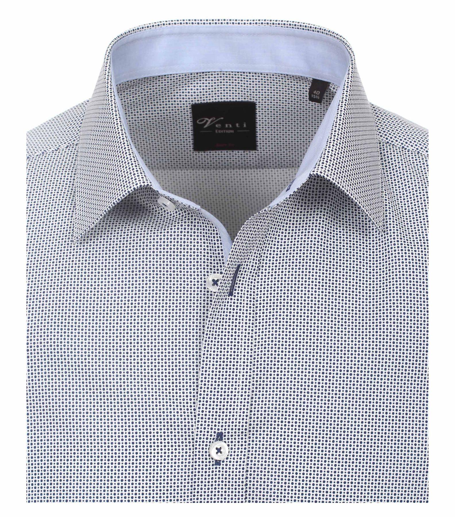 Venti - Body Fit - Herren Hemd mit modischem Druck und aus 100% Baumwolle mit Kent Kragen (172677900) – Bild 3