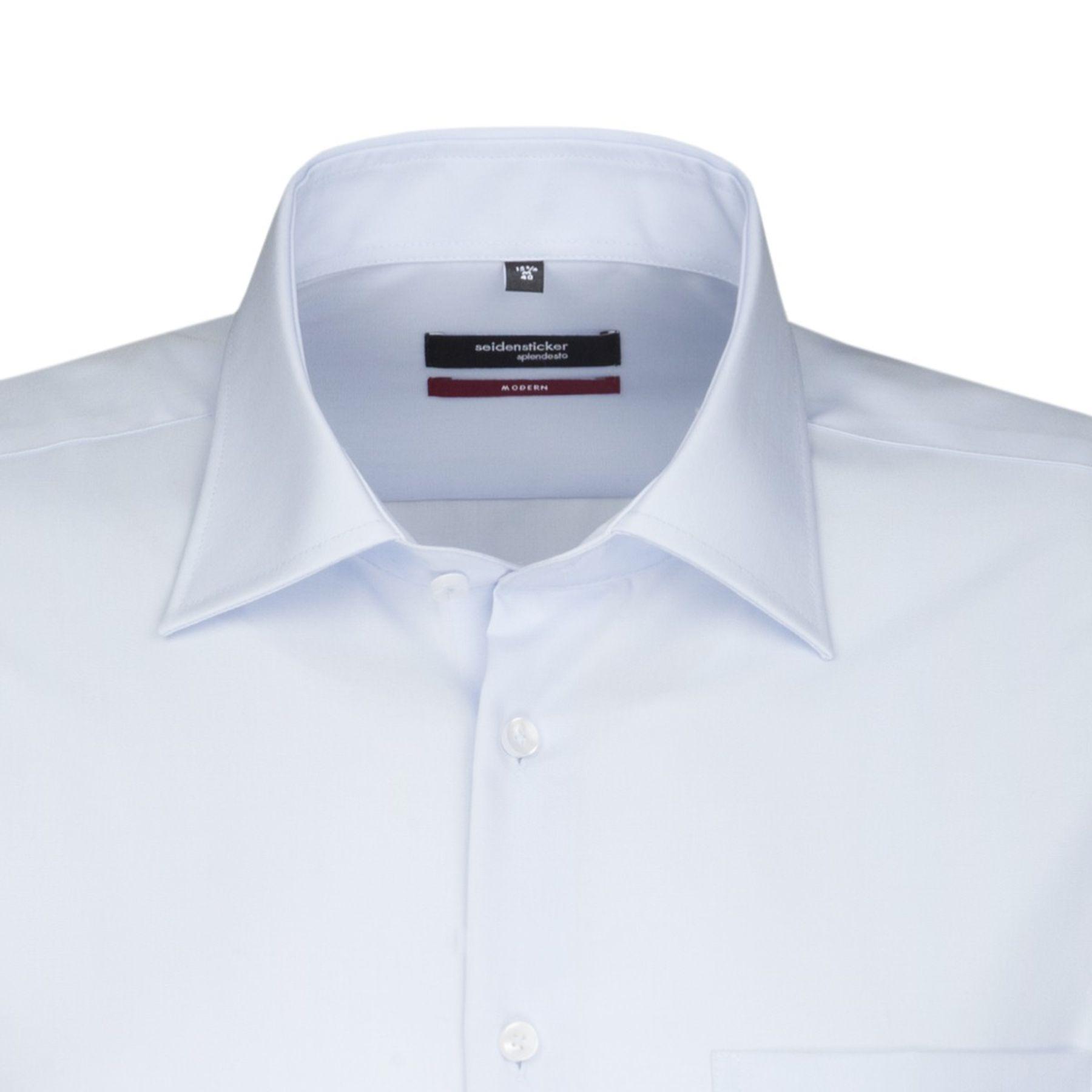 Seidensticker - Herren Hemd, Bügelfrei, Modern, Schwarze Rose mit Kent Kragen in Blau, Weiß und Ecru (01.001007) – Bild 14