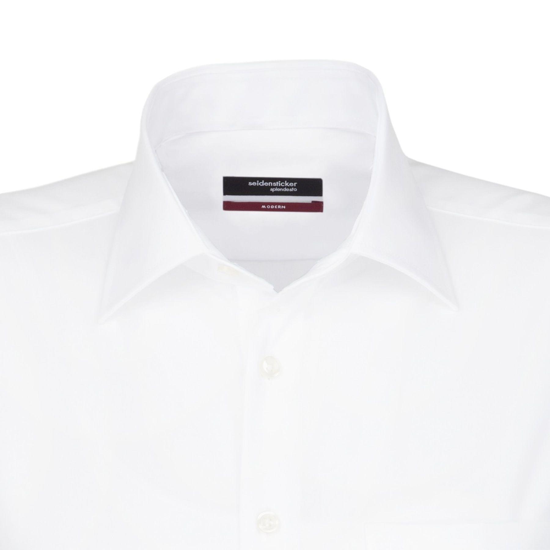 Seidensticker - Herren Hemd, Bügelfrei, Modern, Schwarze Rose mit Kent Kragen in Blau, Weiß und Ecru (01.001007) – Bild 4