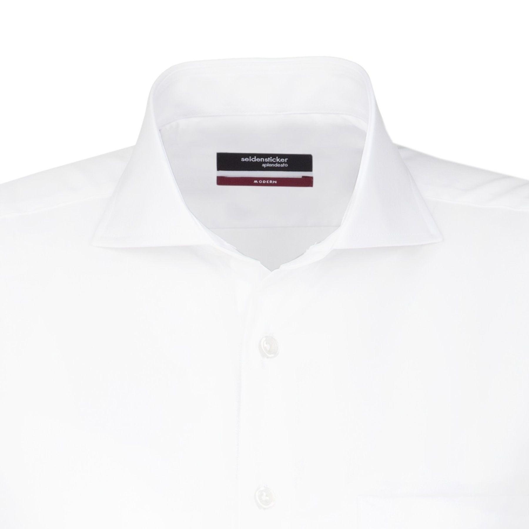 Seidensticker - Herren Hemd, Bügelfrei, Modern, Schwarze Rose mit Shark Kragen in Weiß (01.003008) – Bild 4