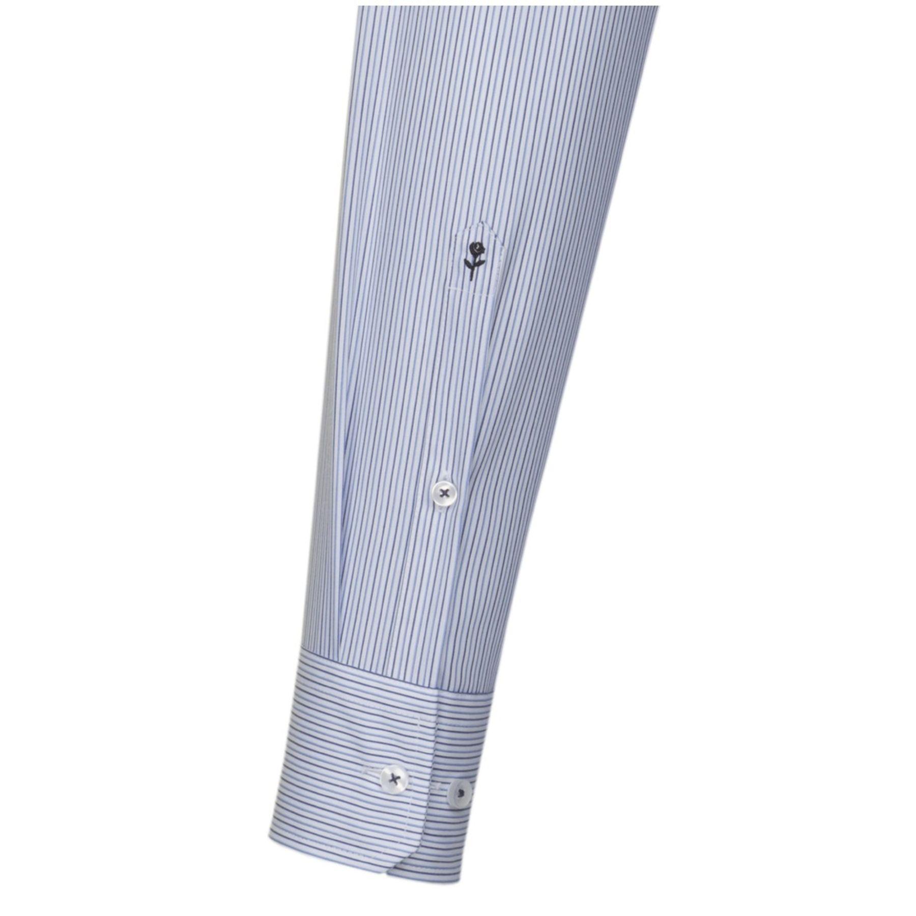 Seidensticker - Herren Hemd, Bügelfrei, Modern, Schwarze Rose mit Kent Kragen in Blau/Weiß gestreift (01.111860) – Bild 3