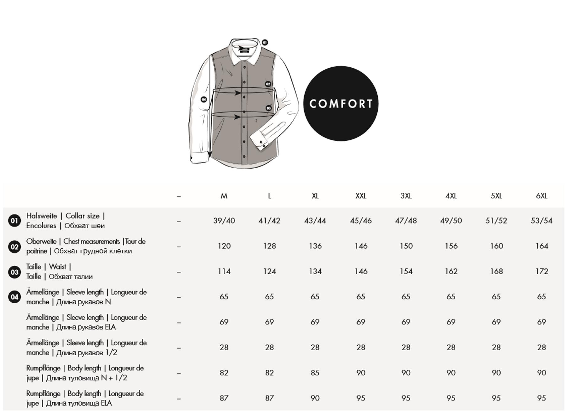 Seidensticker - Herren Hemd 1/2 Arm, Bügelfrei, Comfort, Schwarze Rose mit Kent Kragen in Weiß (01.312421) – Bild 6