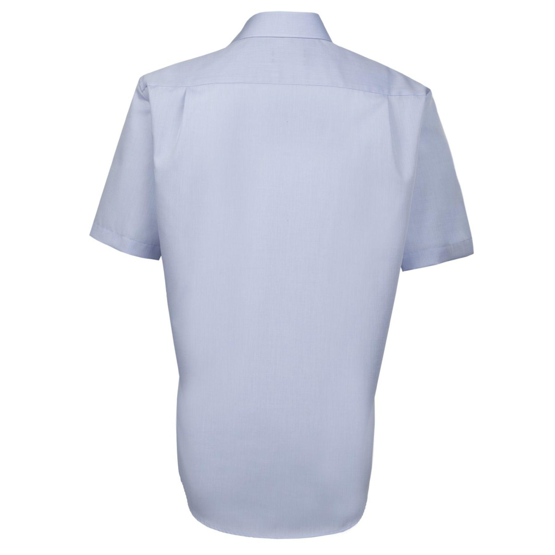 Seidensticker - Herren Hemd 1/2 Arm, Bügelfrei, Comfort, Schwarze Rose mit Kent Kragen in Blau (01.312431) – Bild 2