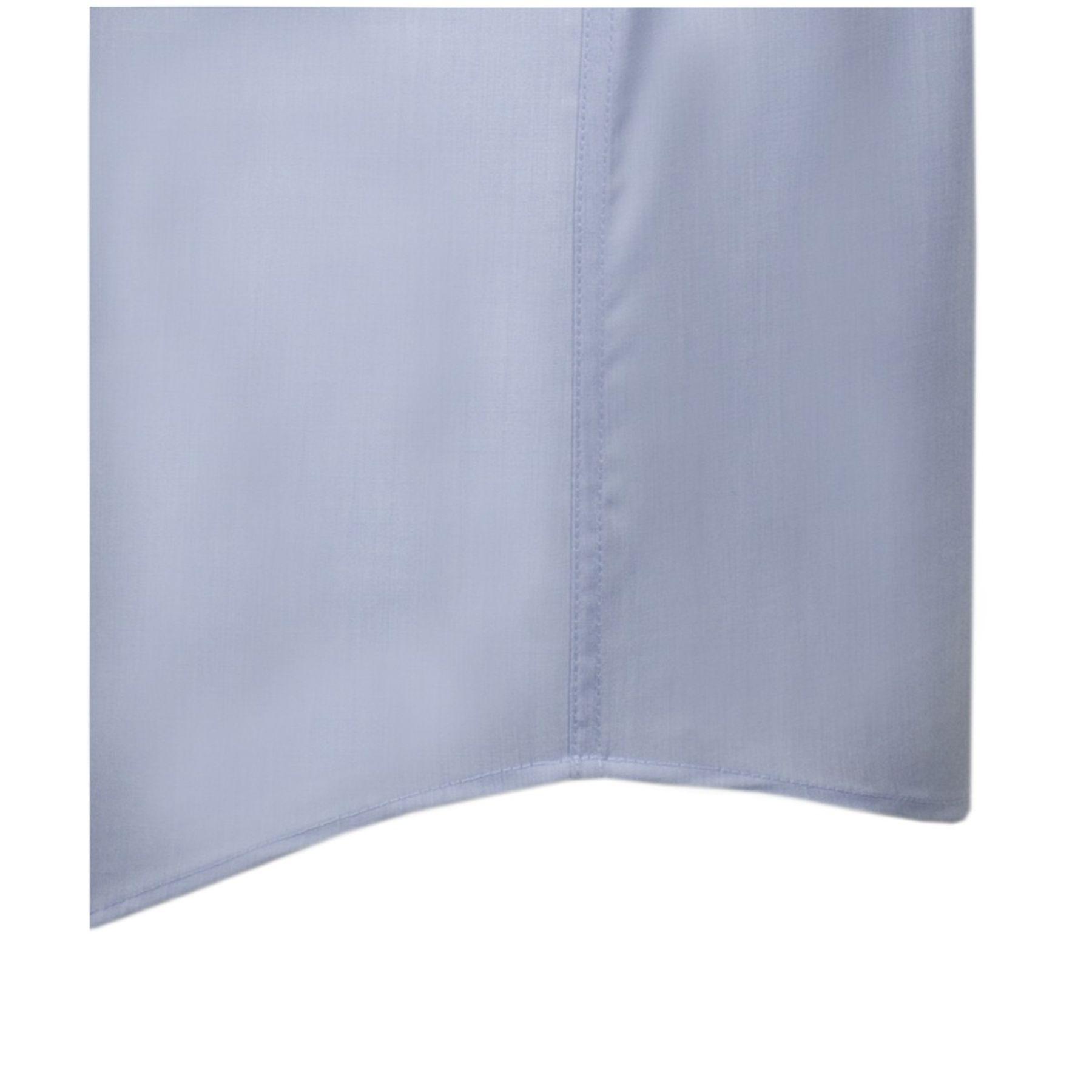 Seidensticker - Herren Hemd 1/2 Arm, Bügelfrei, Comfort, Schwarze Rose mit Kent Kragen in Blau (01.312431) – Bild 3