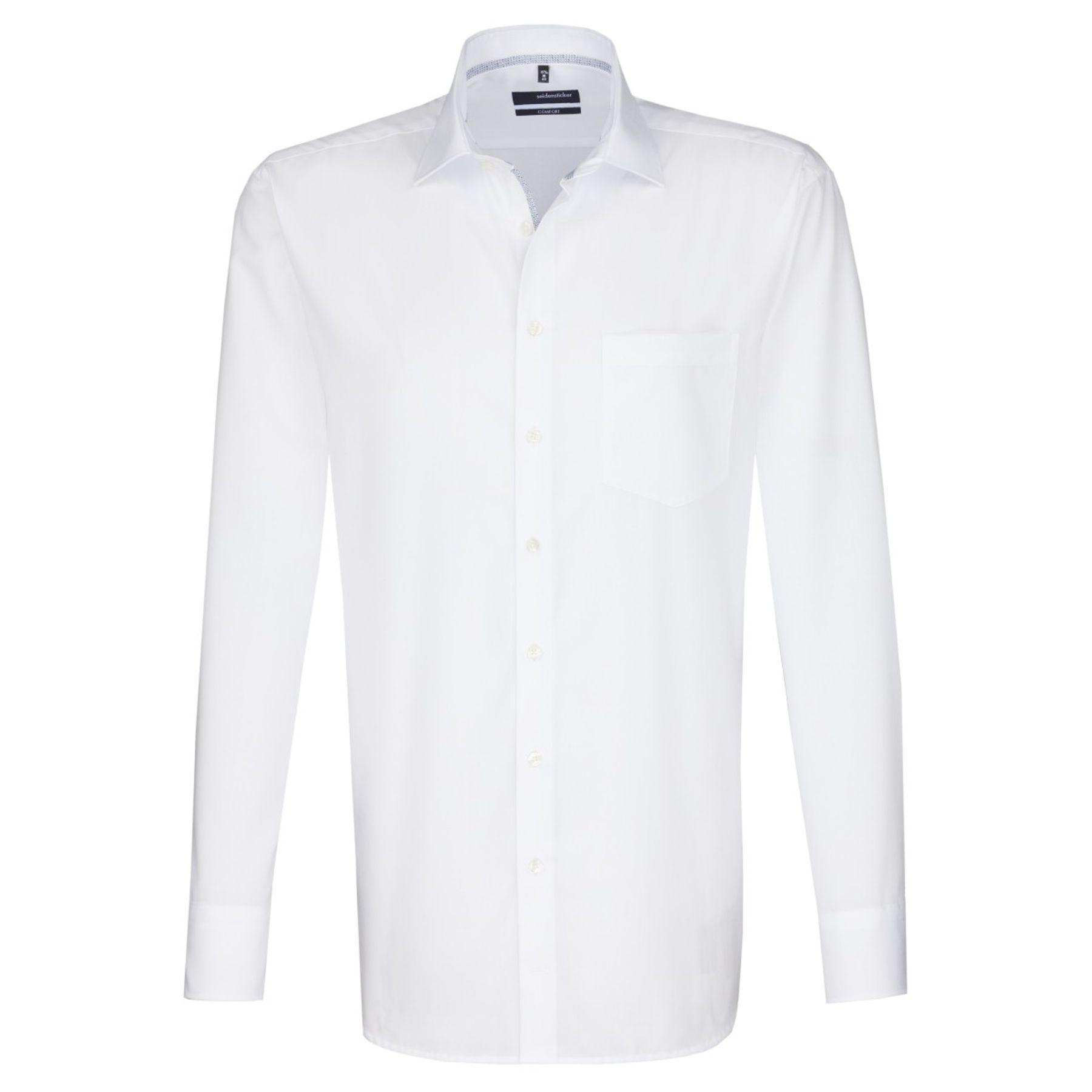 Seidensticker - Herren Hemd, Bügelfrei, Comfort, Schwarze Rose mit Kent Kragen in Weiß (01.311846) – Bild 1