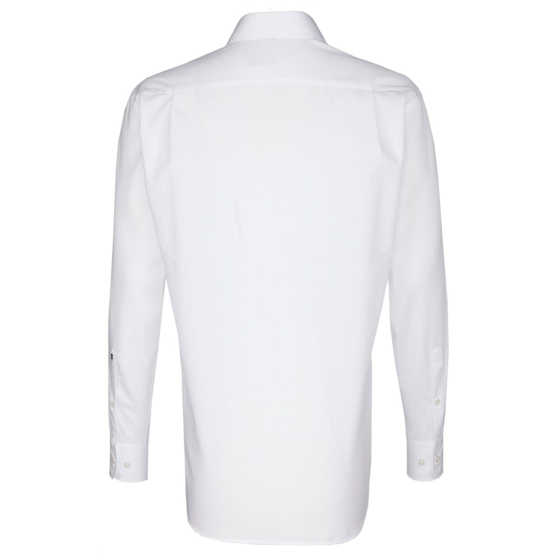Seidensticker - Herren Hemd, Bügelfrei, Comfort, Schwarze Rose mit Kent Kragen in Weiß (01.311846) – Bild 2