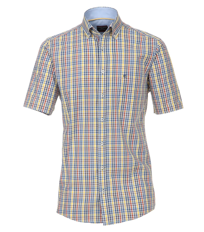 Casamoda - Comfort Fit - Herren kurzarm Hemd in verschiedene Karotönen (972724000)