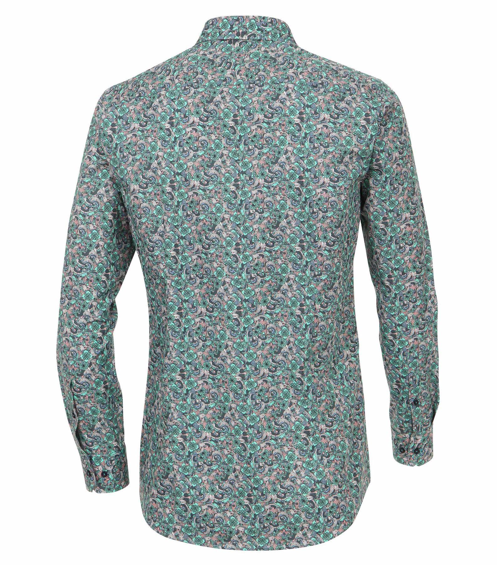 Venti - Slim Fit - Herren Hemd mit modischem Druck aus 100% Baumwolle mit Kent Kragen (172660200) – Bild 2