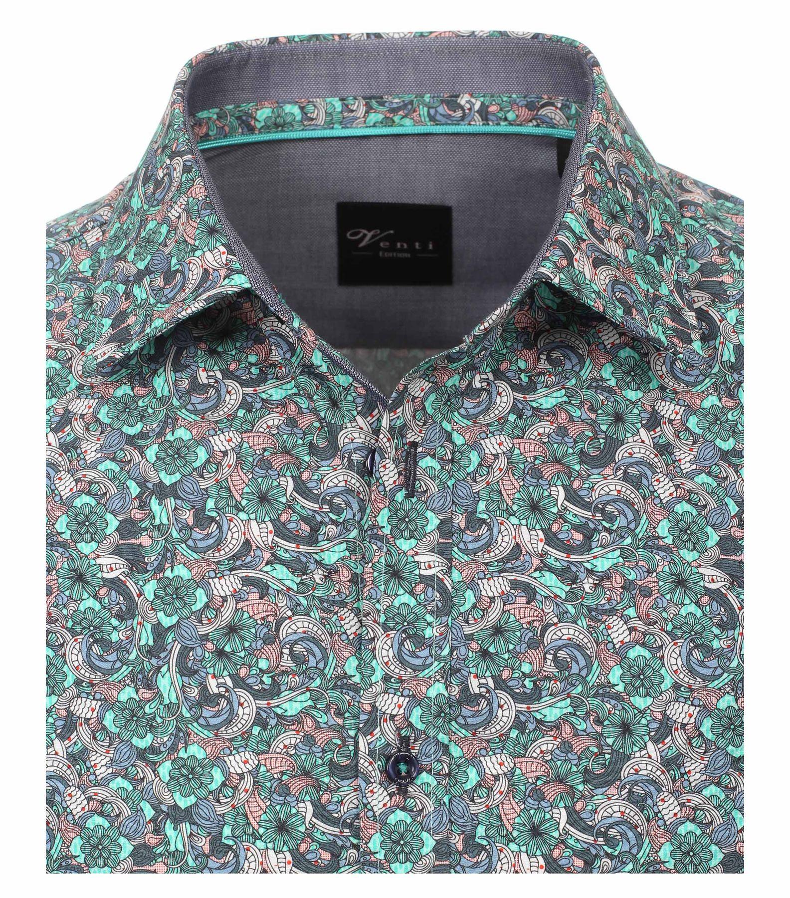 Venti - Slim Fit - Herren Hemd mit modischem Druck aus 100% Baumwolle mit Kent Kragen (172660200) – Bild 3