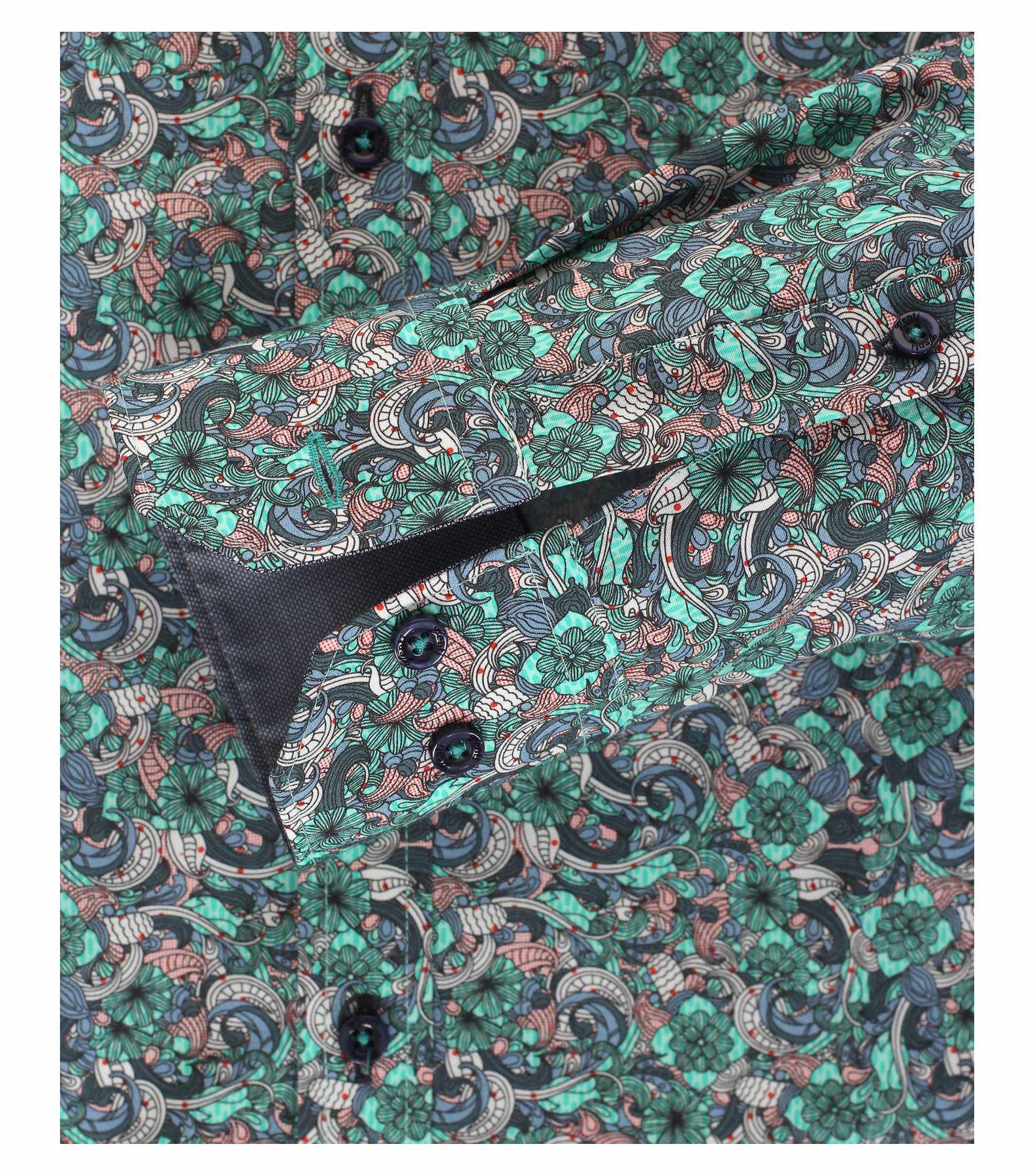 Venti - Slim Fit - Herren Hemd mit modischem Druck aus 100% Baumwolle mit Kent Kragen (172660200) – Bild 4