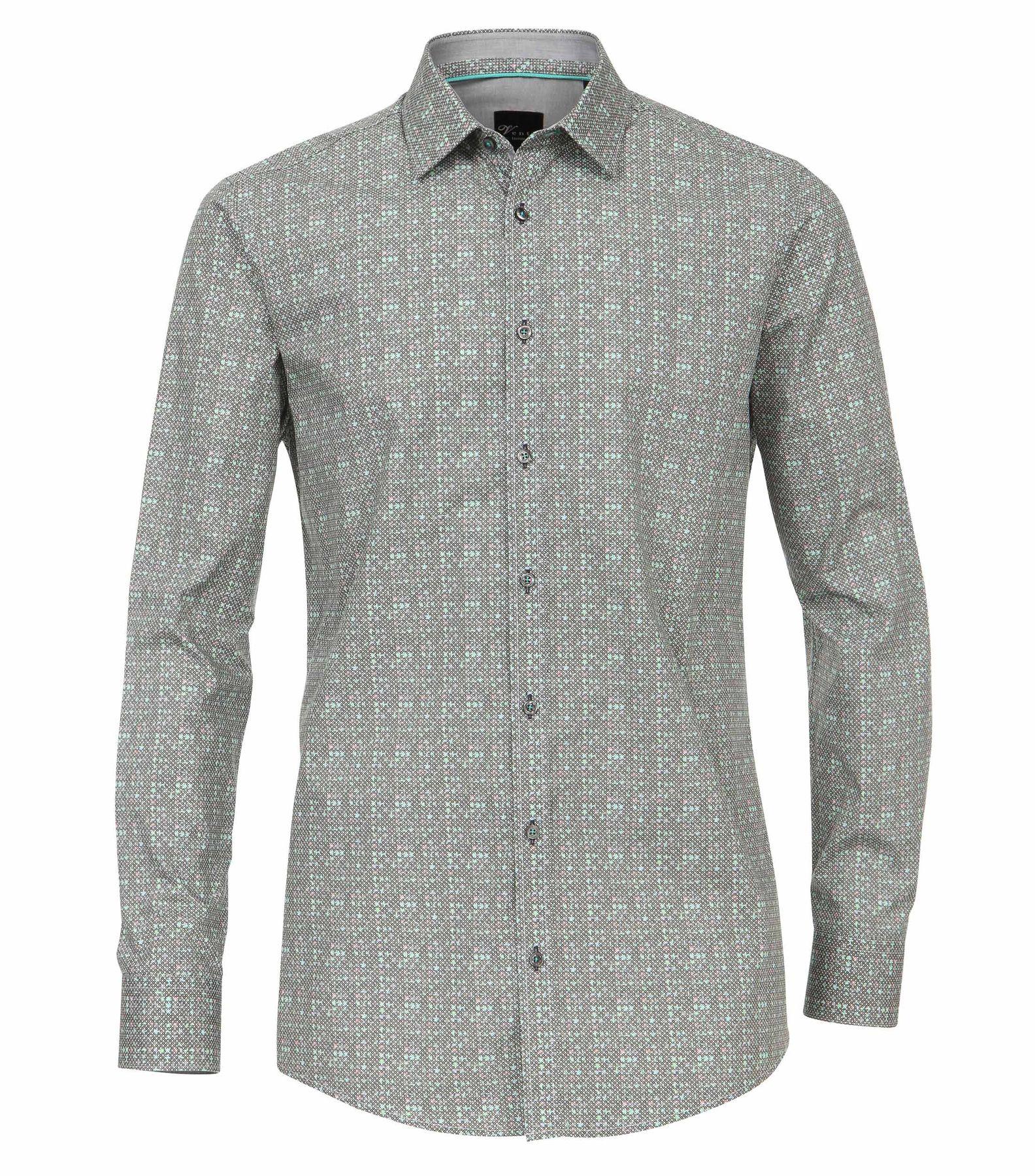 Venti - Slim Fit - Herren Hemd mit modischem Druck aus 100% Baumwolle mit Kent Kragen (172660200) – Bild 5