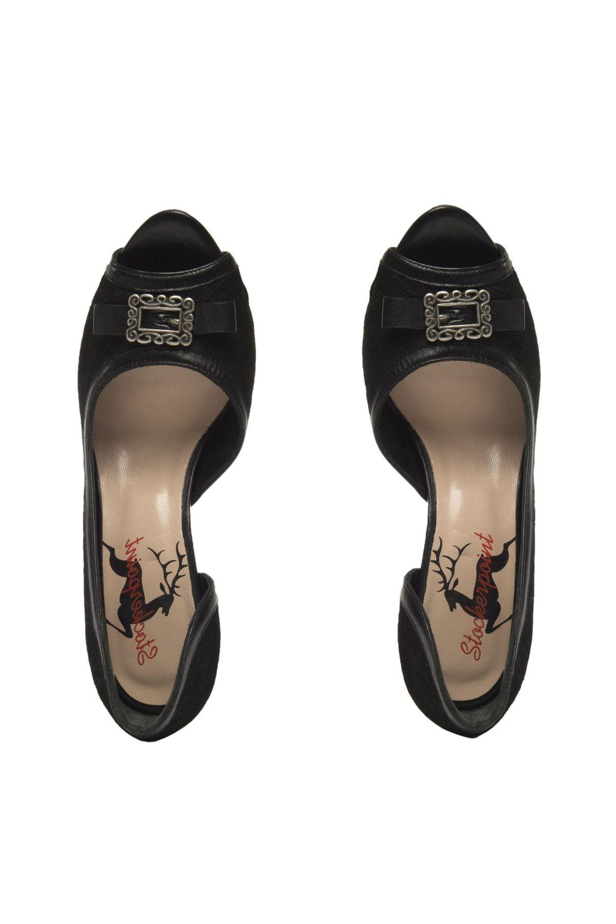 Stockerpoint- Damen Trachten Schuhe in Schwarz, 6015 – Bild 6