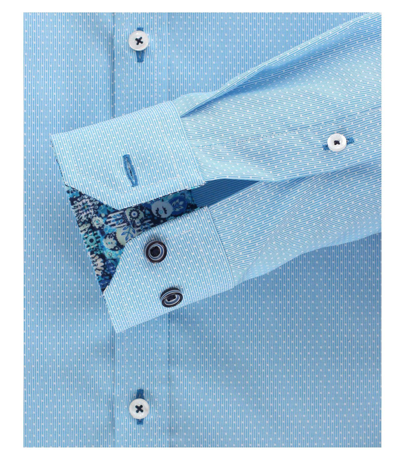 Venti - Body Fit - Herren Karo Struktur Hemd aus 100% Baumwolle mit Hai Kragen (172666800) – Bild 4