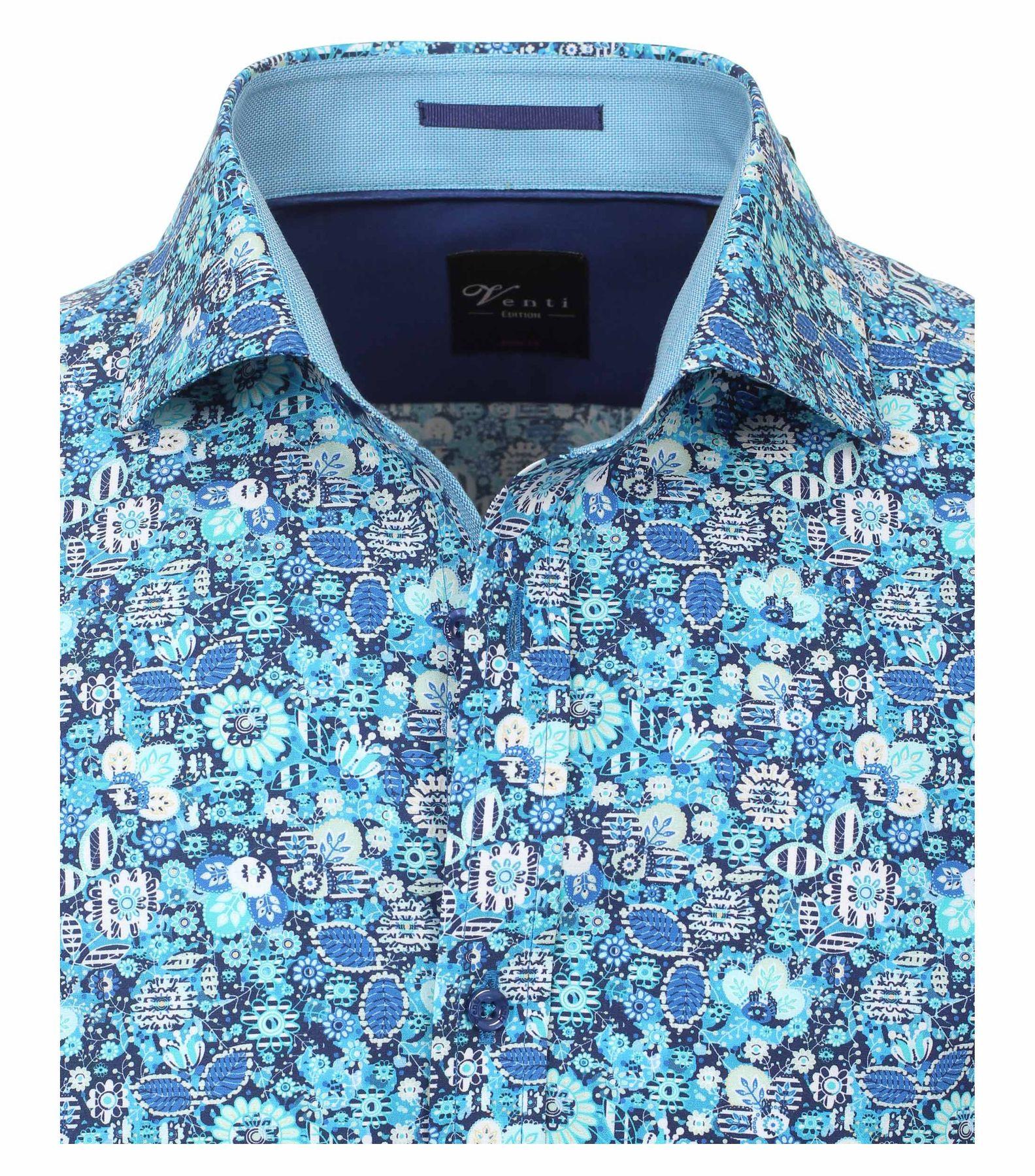 Venti - Body Fit - Herren Hemd mit modischem Druck aus 100% Baumwolle mit Hai Kragen (172667000) – Bild 3