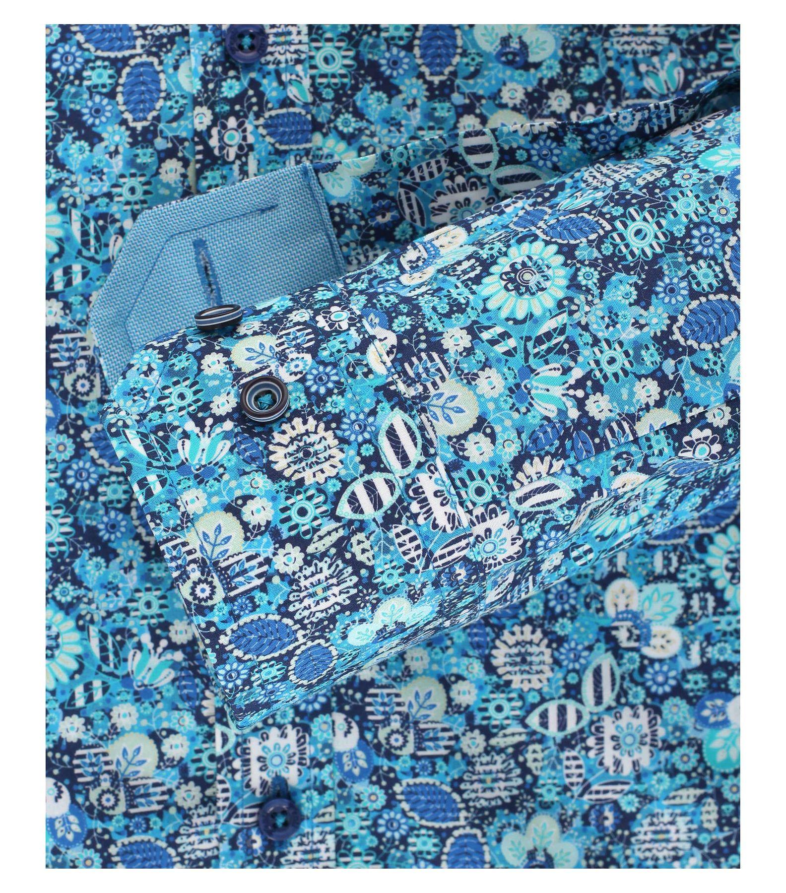 Venti - Body Fit - Herren Hemd mit modischem Druck aus 100% Baumwolle mit Hai Kragen (172667000) – Bild 4