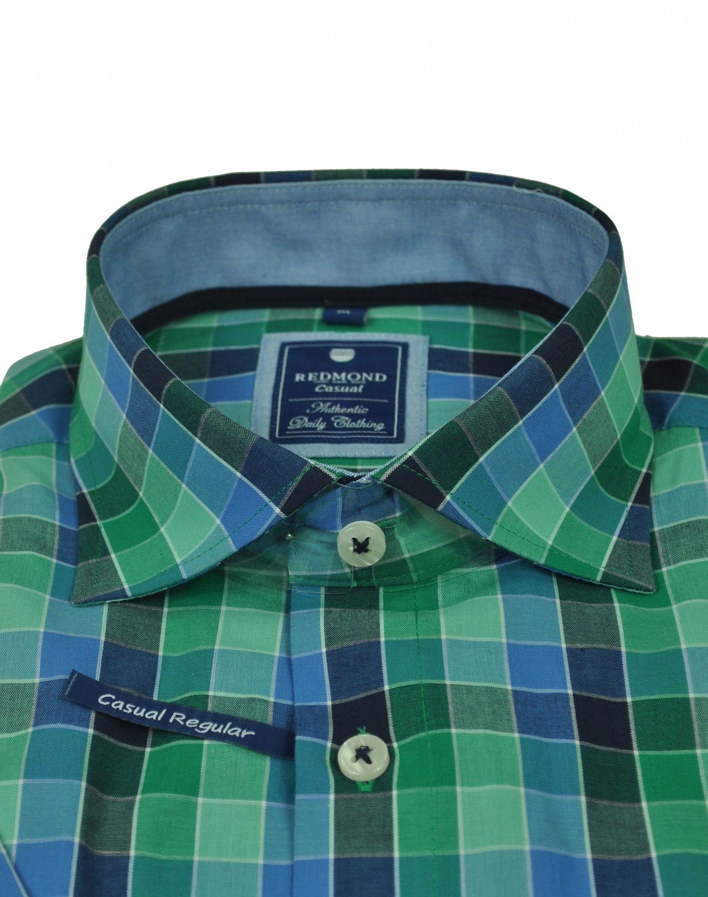 Redmond - Regular Fit - Herren Kurzarm Hemd mit Haifisch Kragen (71130999/-993) – Bild 2